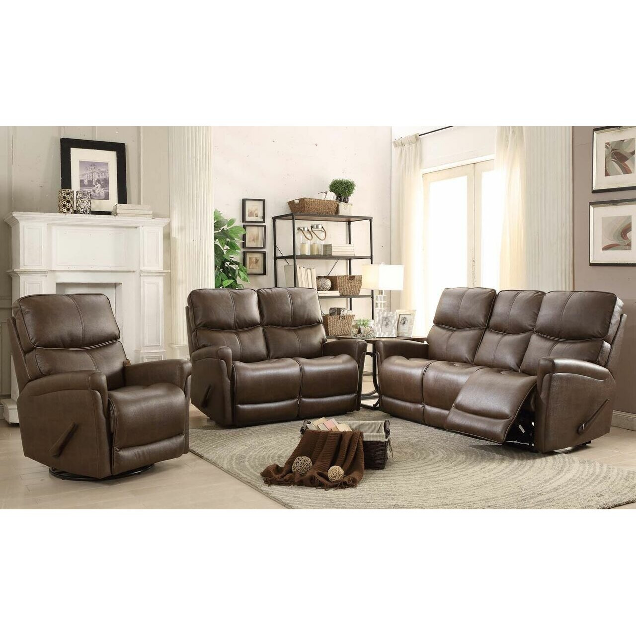 Easy living cologne 3 piece reclining living room set for 3 piece living room set
