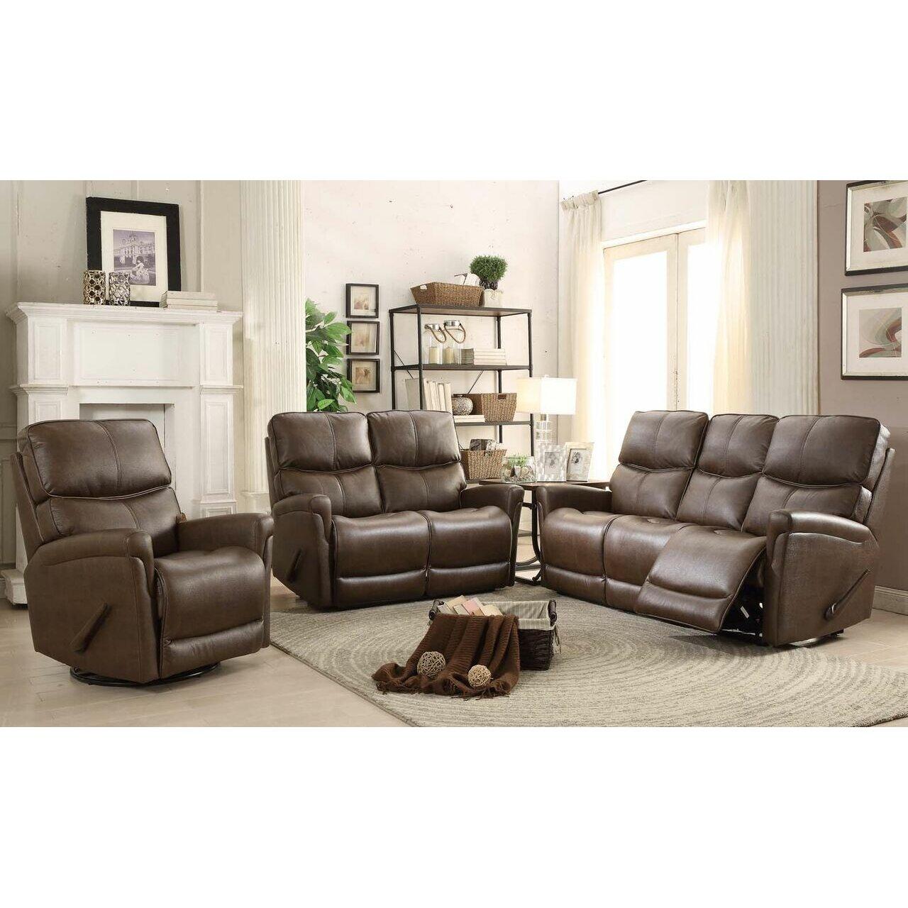 Easy living cologne 3 piece reclining living room set for 3 piece living room set