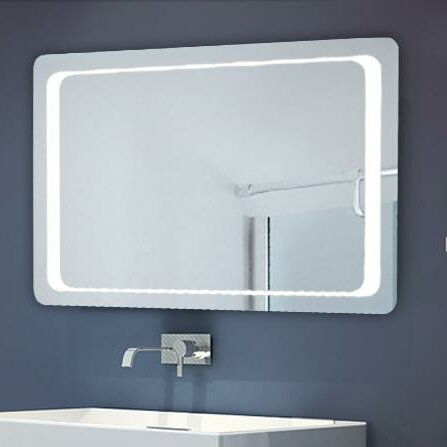 Homcom illuminated bathroom mirror reviews wayfair uk for Mirror 50 x 70
