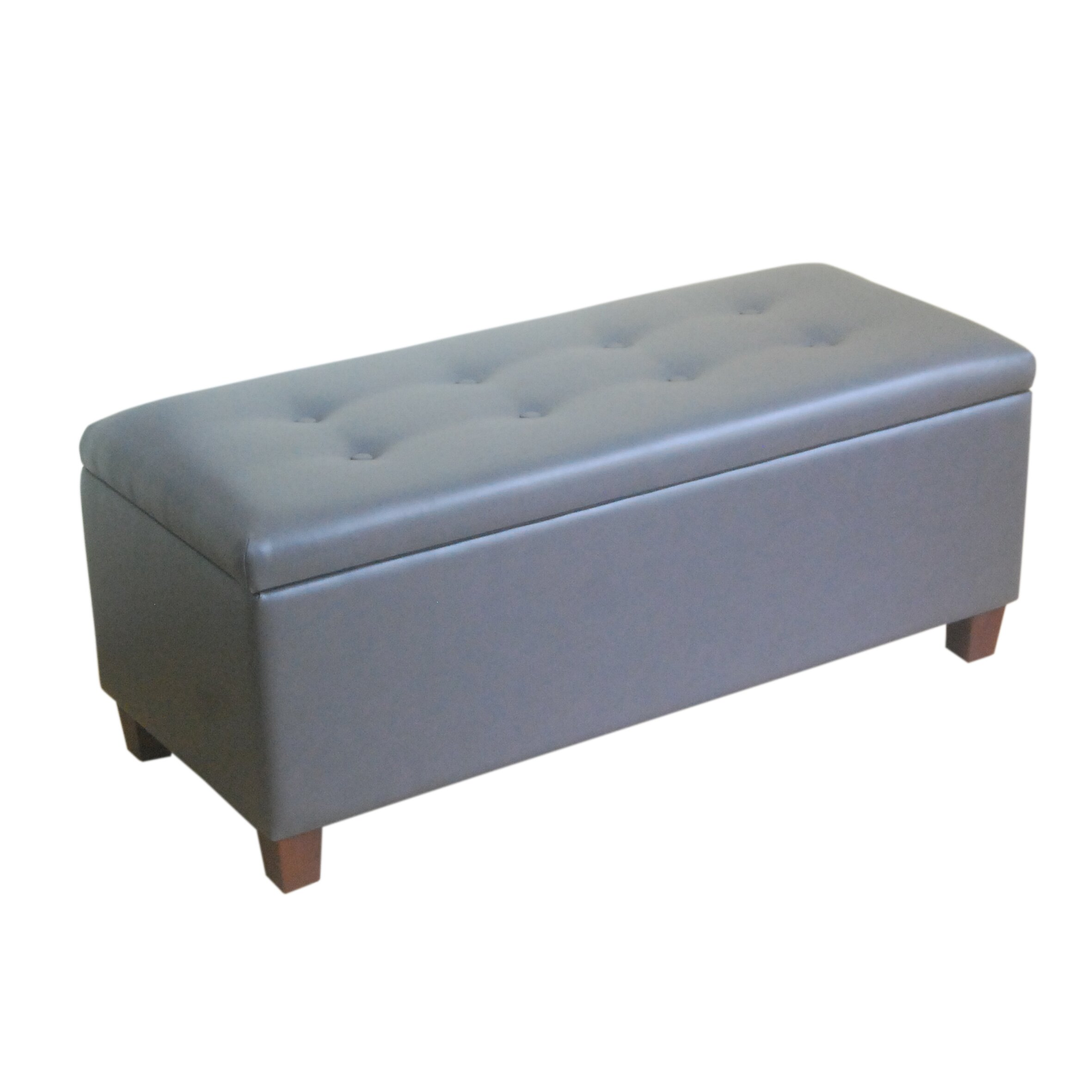 Wildon Home Upholstered Storage Bedroom Bench: Upholstered Storage Bench