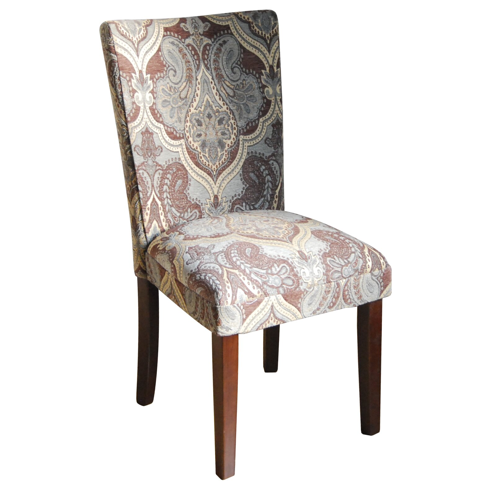 Homepop Kinfine Upholstered Damask Parsons Chair Amp Reviews
