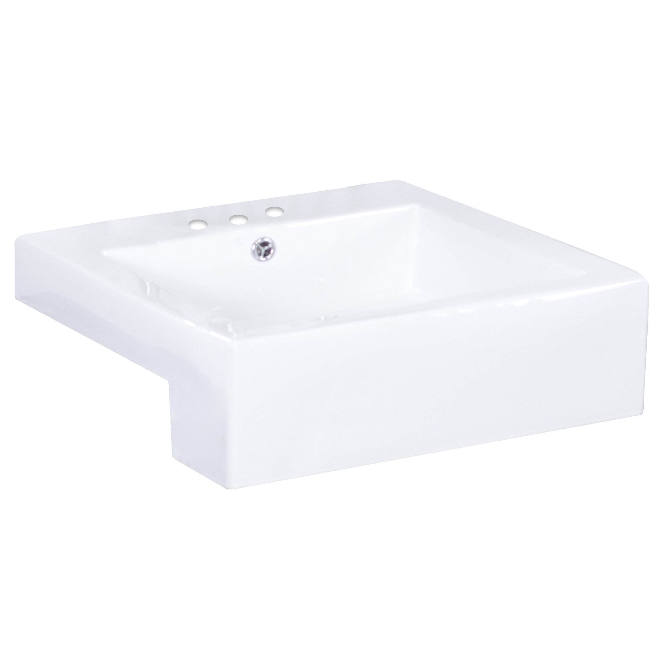 Semi-Recessed Rectangle Vessel Bathroom Sink by American Imaginations