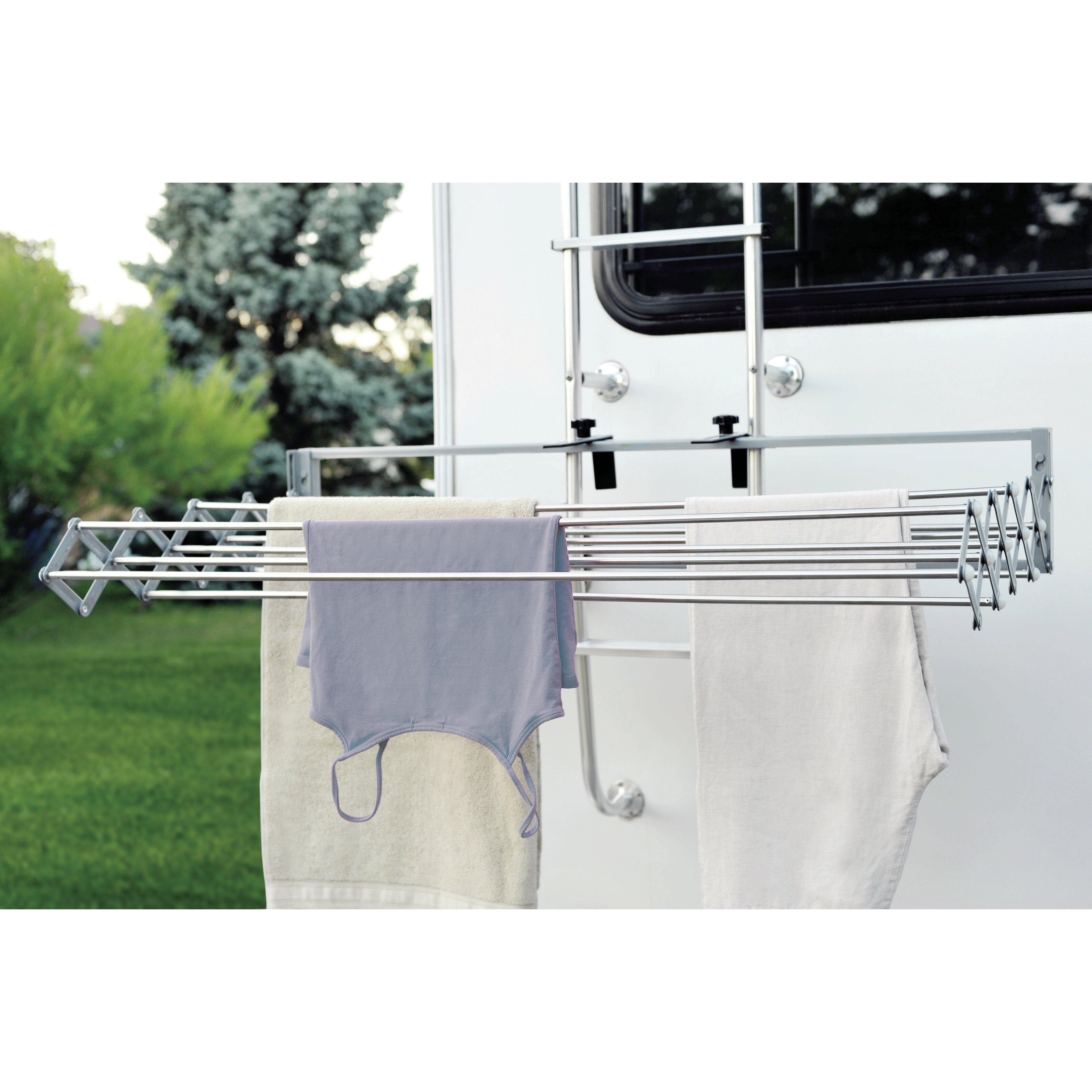 Xcentrik smart dryer telescopic clothes drying rack reviews wayfair - Etendoir exterieur mural ...