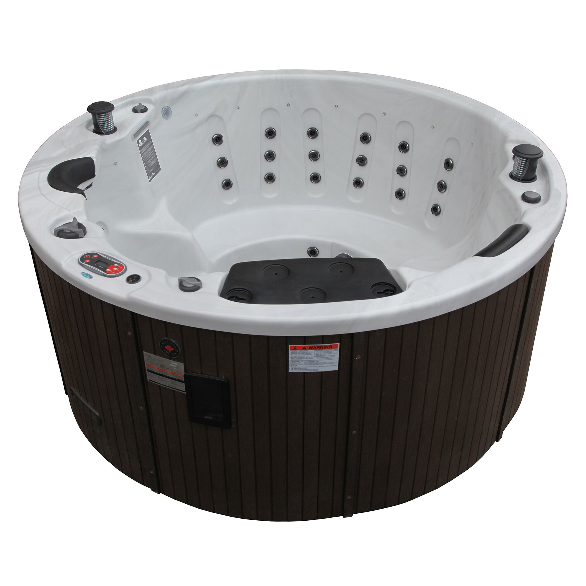 5 person 38 jet ottawa hot tub with waterfall wayfair. Black Bedroom Furniture Sets. Home Design Ideas