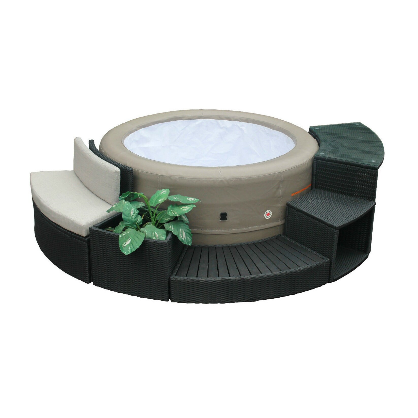 Canadian spa co round spa surround furniture 5 piece set amp reviews