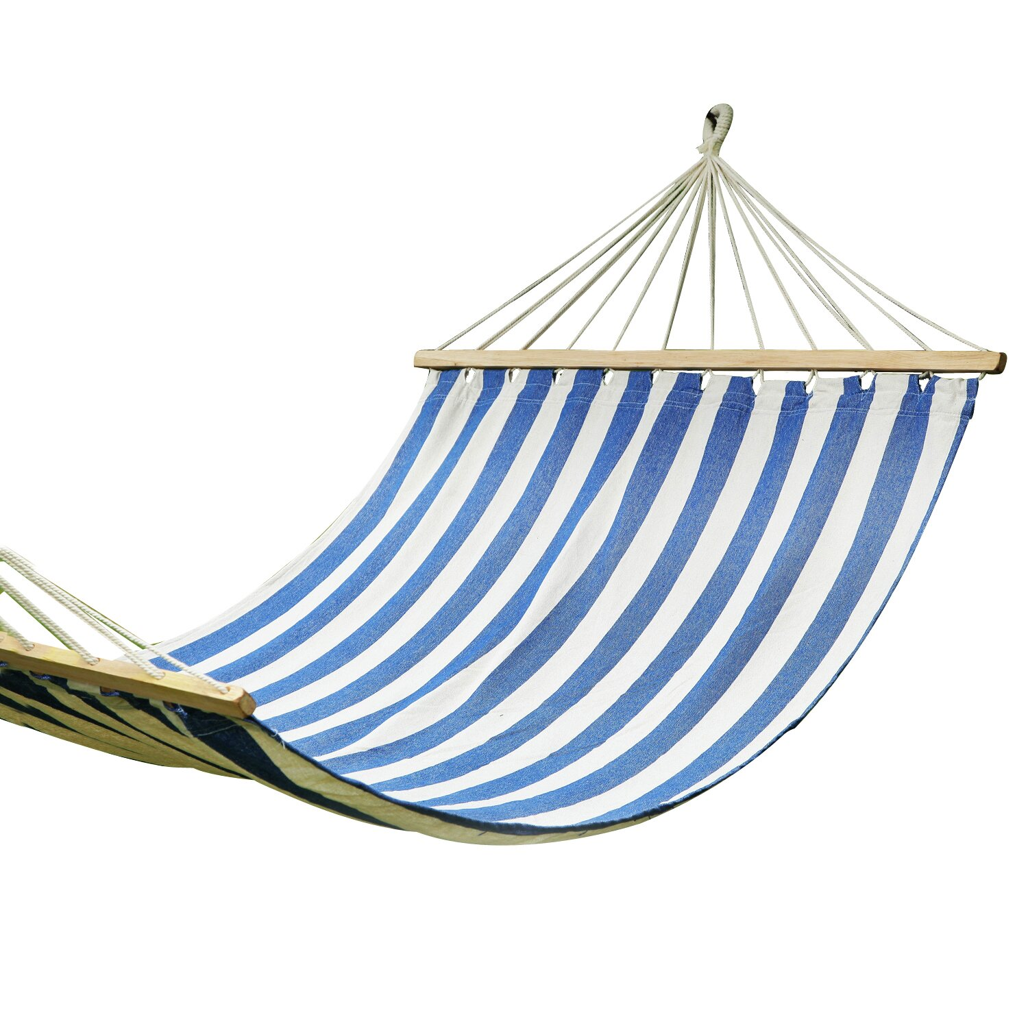 suspended indoor outdoor hammock bed with spreader bar by adecotrading