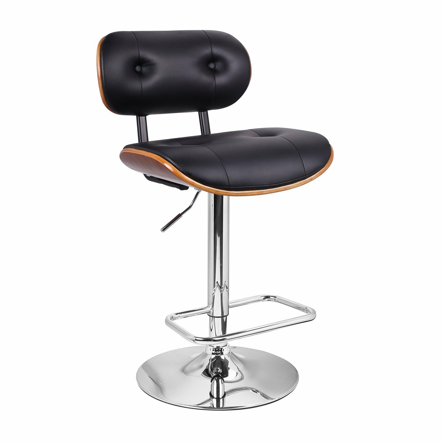 Adjustable Height Swivel Bar Stool by AdecoTrading