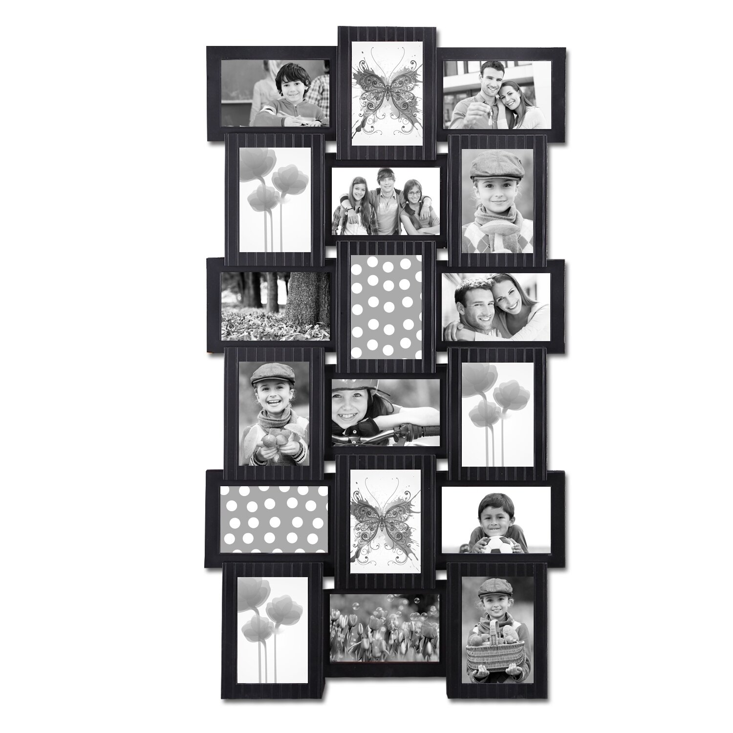 18 opening plastic photo collage wall hanging picture. Black Bedroom Furniture Sets. Home Design Ideas