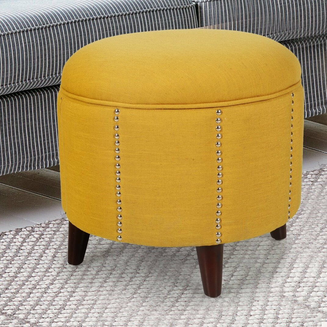Button Tufted Lift Round Storage Ottoman Wayfair