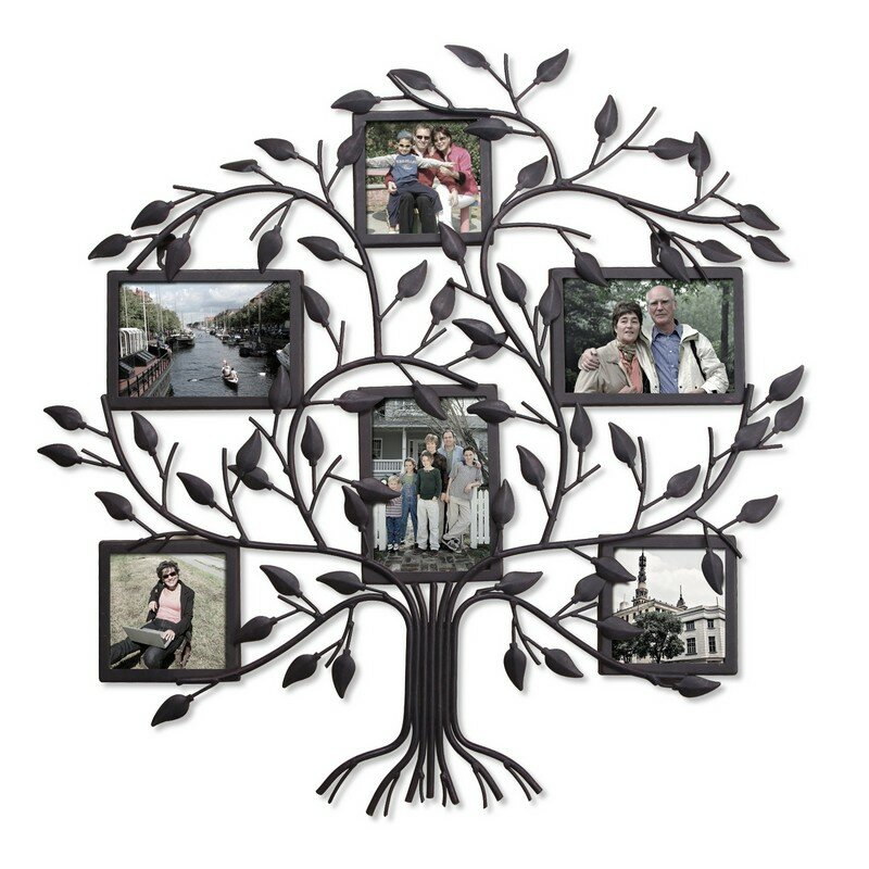 6 Opening Decorative Family Tree Wall Hanging Collage