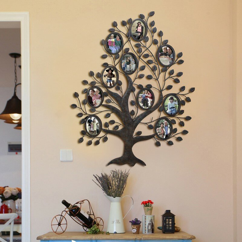 10 Opening Decorative Family Tree Wall Hanging Collage