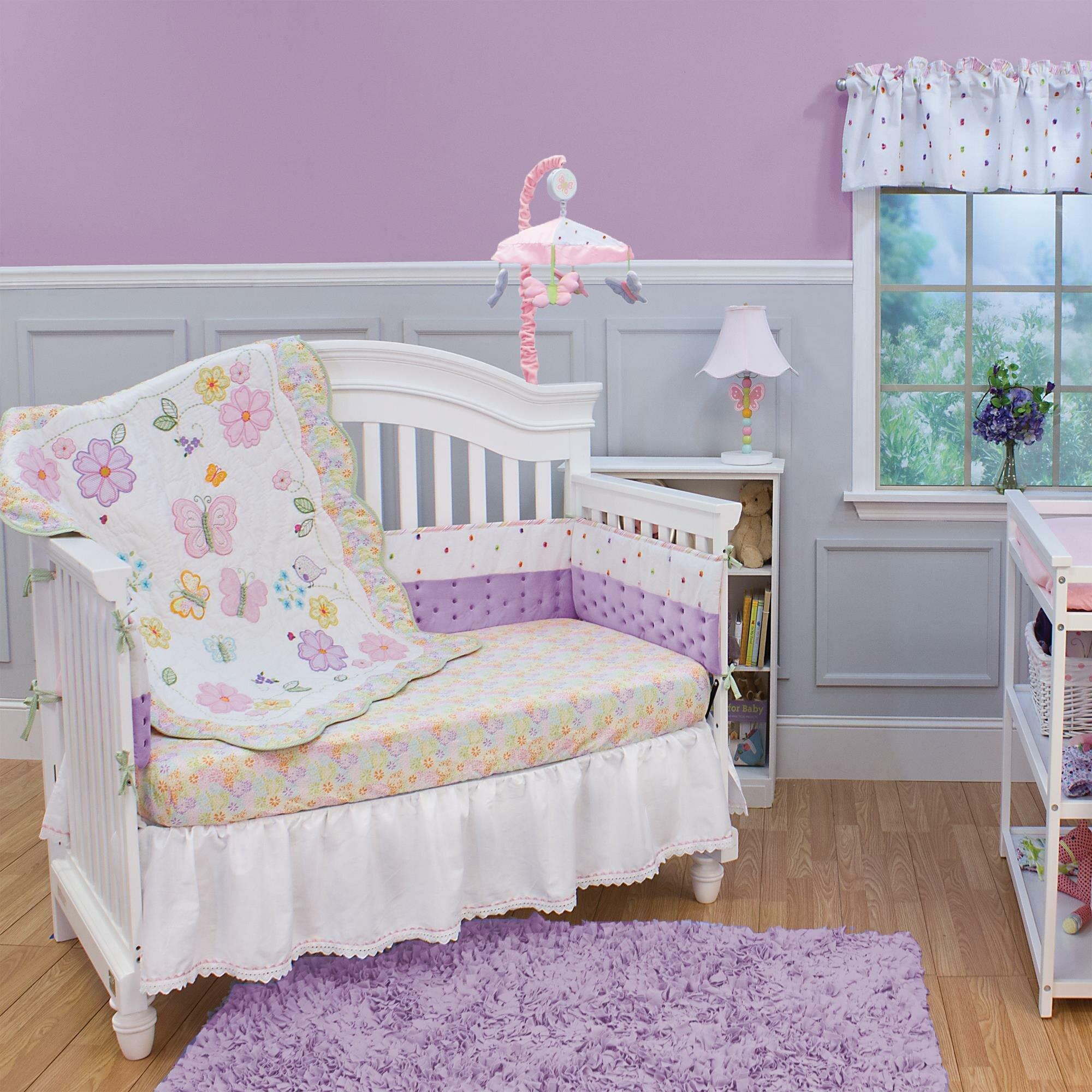 Butterfly Garden 3 Piece Crib Bedding Set
