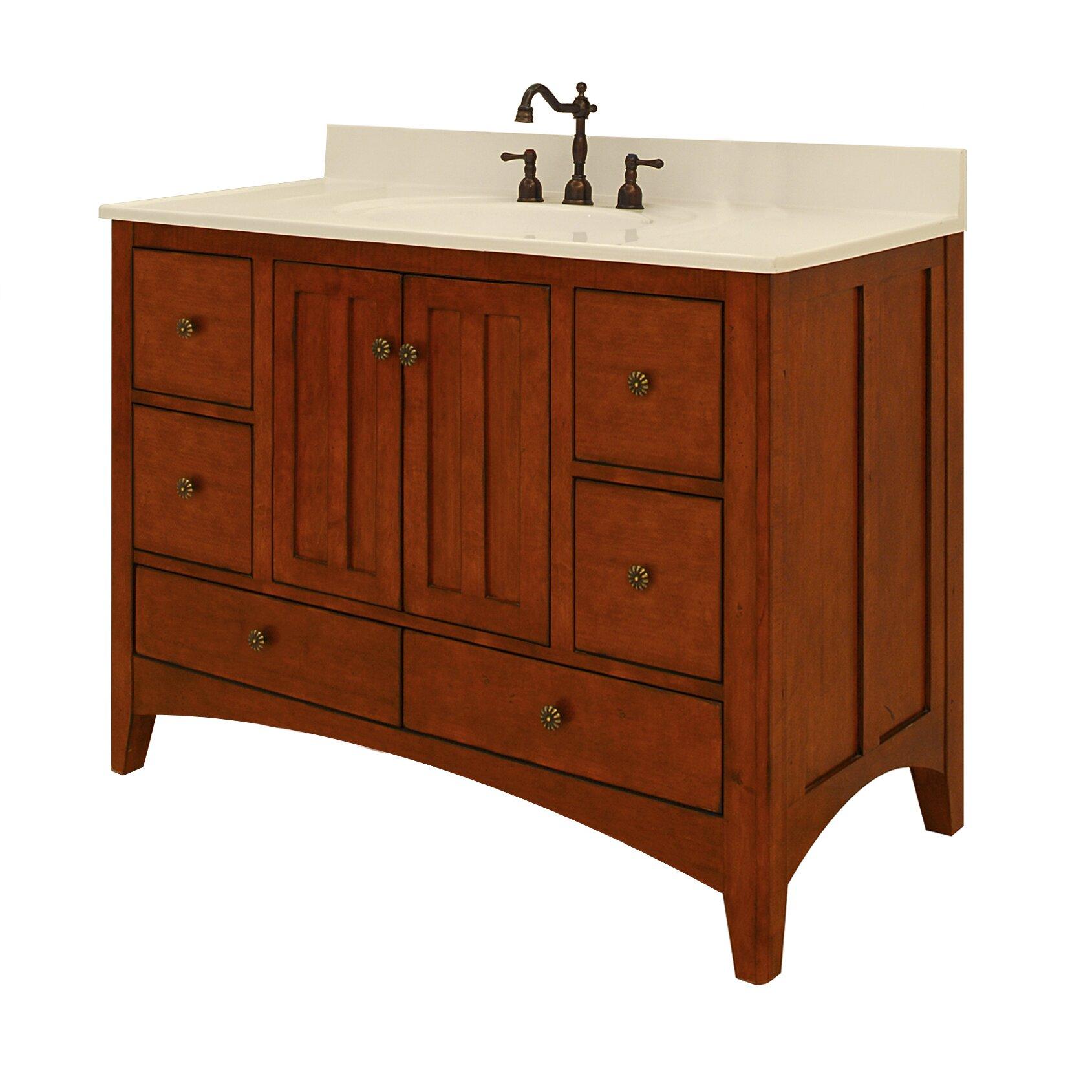 Expressions 48 bathroom vanity base wayfair for 48 inch bathroom vanity base