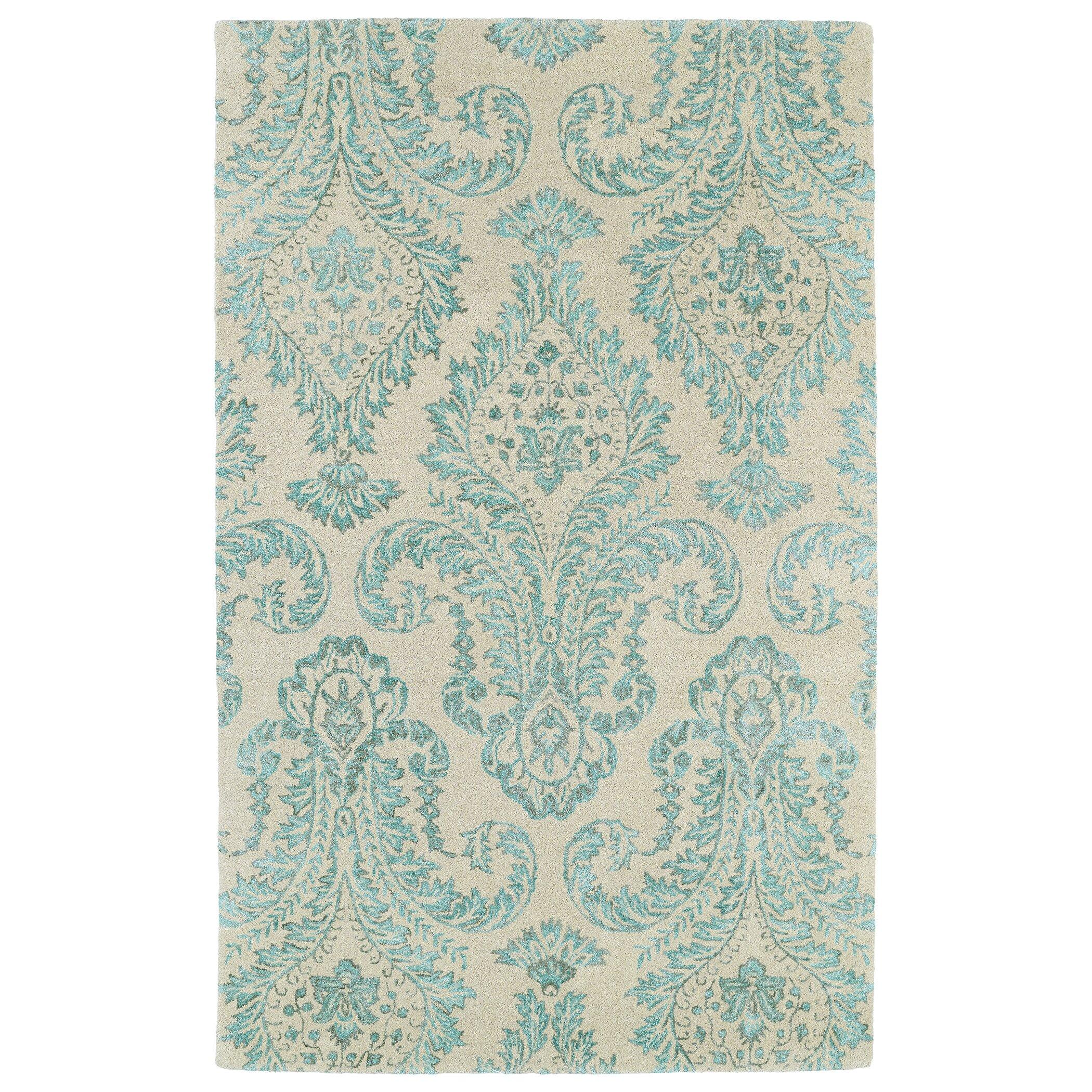 Divine Beige/Turquoise Area Rug