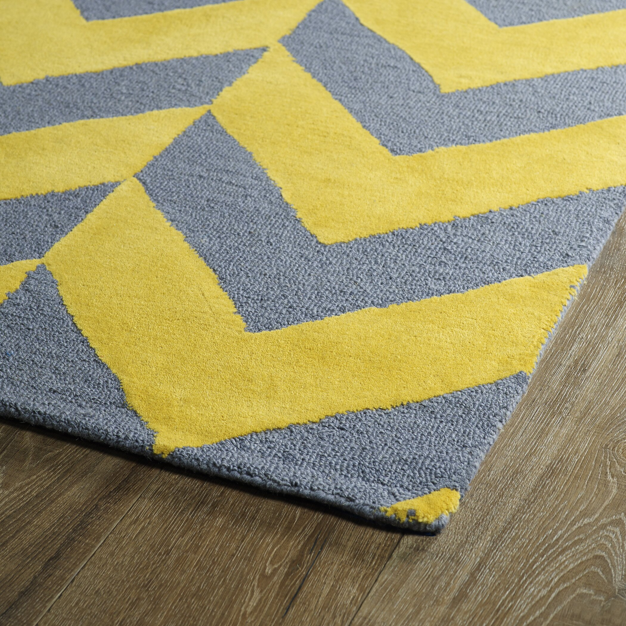 kaleen trends yellow grey area rug allmodern. Black Bedroom Furniture Sets. Home Design Ideas