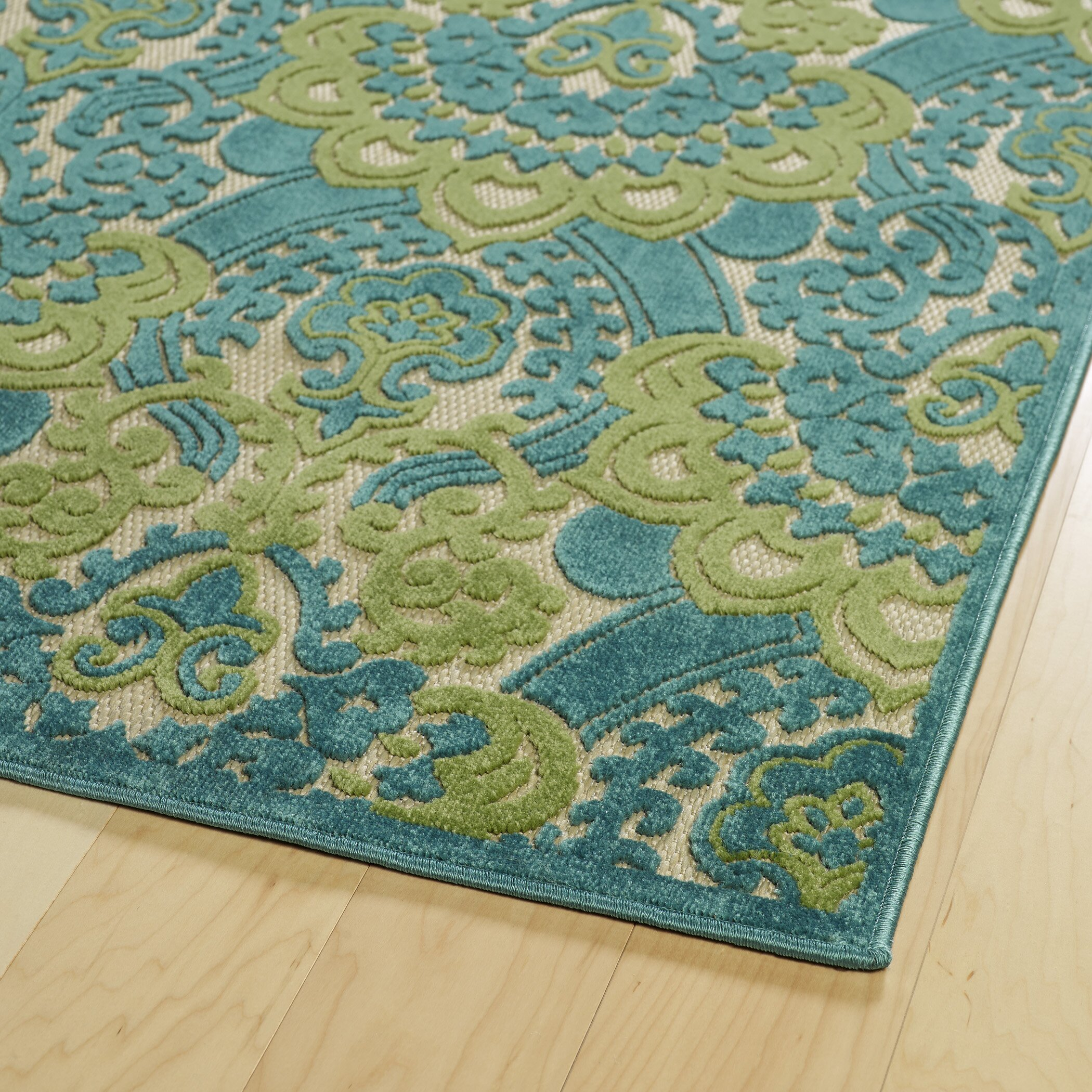 A Breath of Fresh Air Blue Indoor Outdoor Area Rug