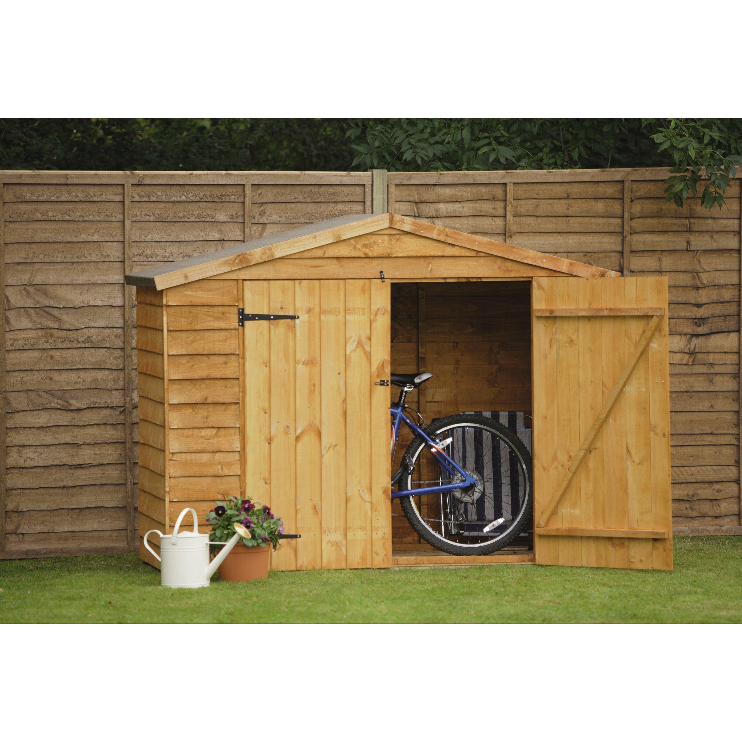 6 x 3 wooden bike shed wayfair uk. Black Bedroom Furniture Sets. Home Design Ideas