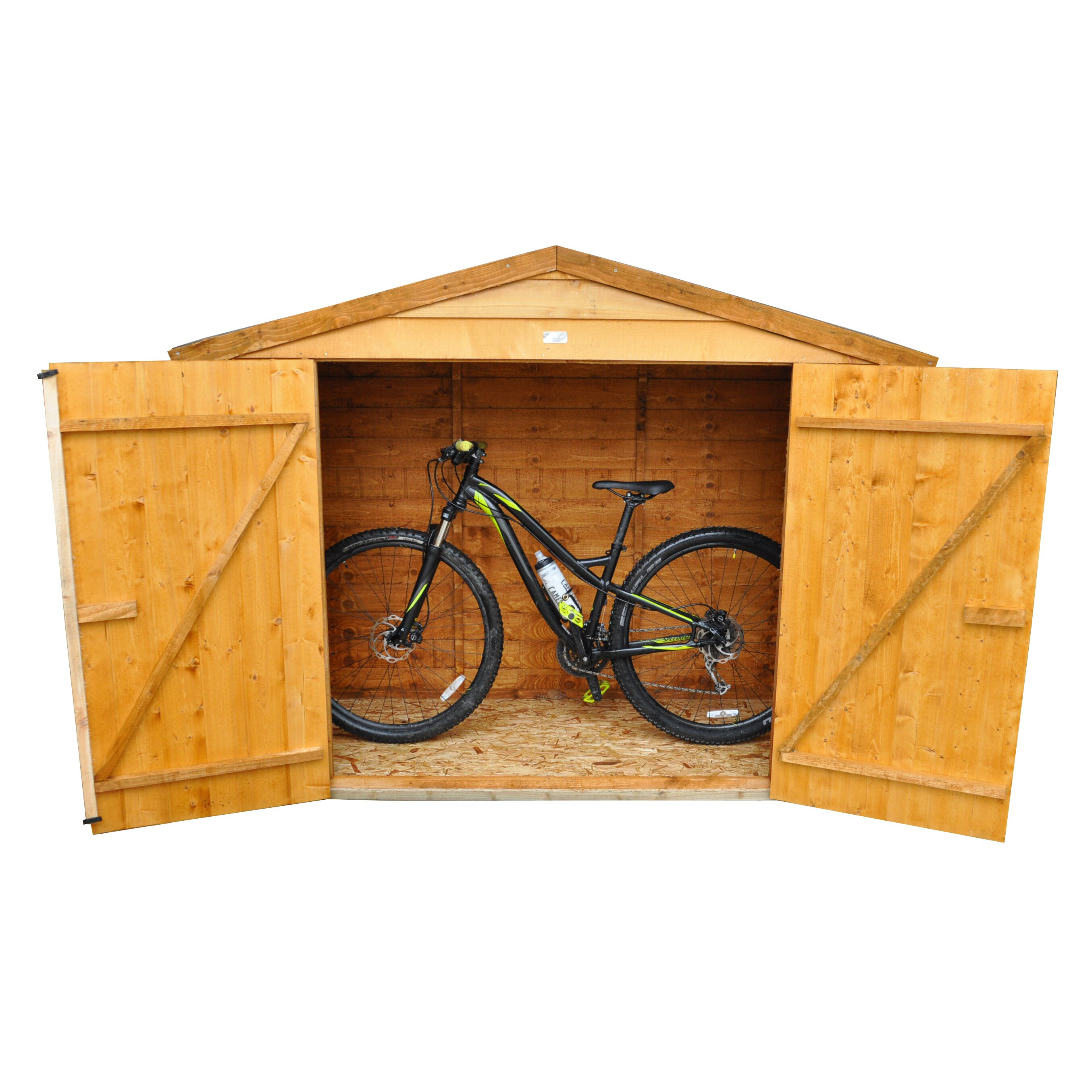 6 x 3 wooden bike shed wayfair uk. Black Bedroom Furniture Sets. Home Design Ideas