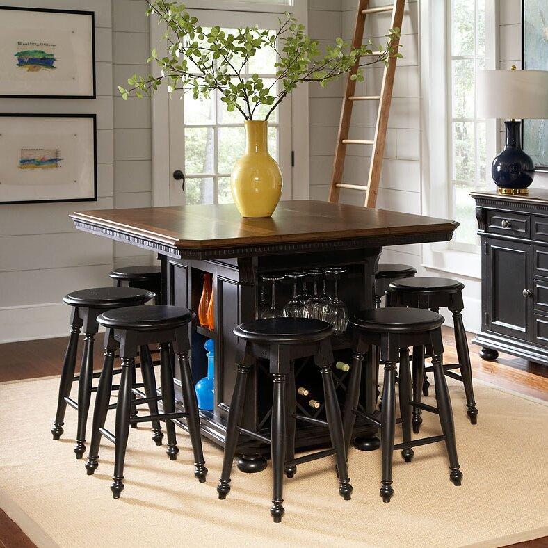 Kitchen Island With Chairs: Avalon Furniture Rivington Hall Kitchen Island & Reviews