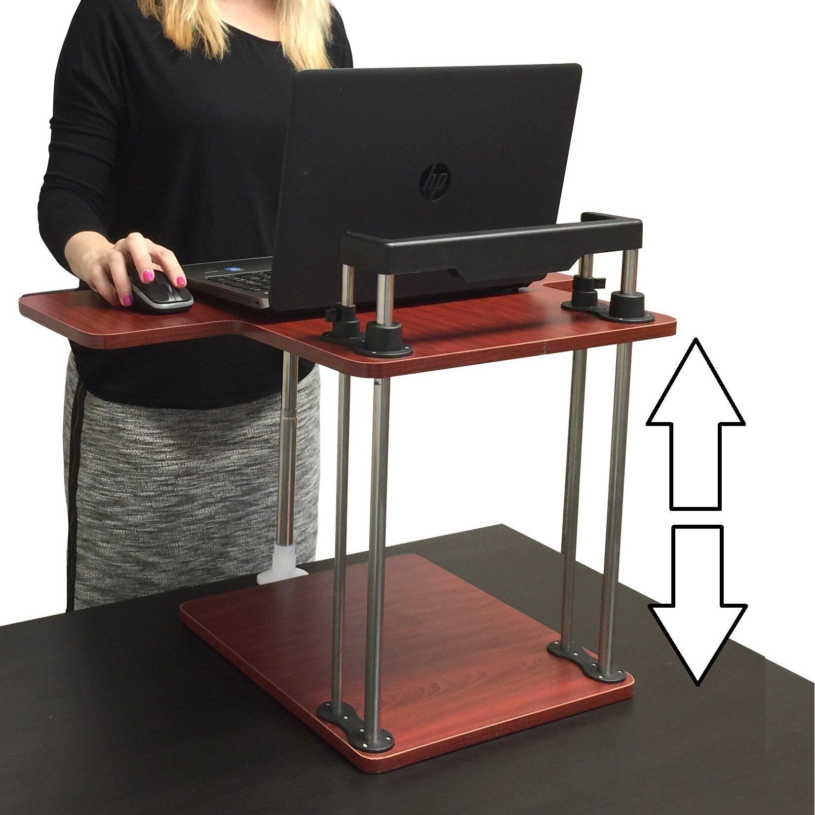 Stand Steady Uptrak Height Adjustable Desk Amp Reviews Wayfair