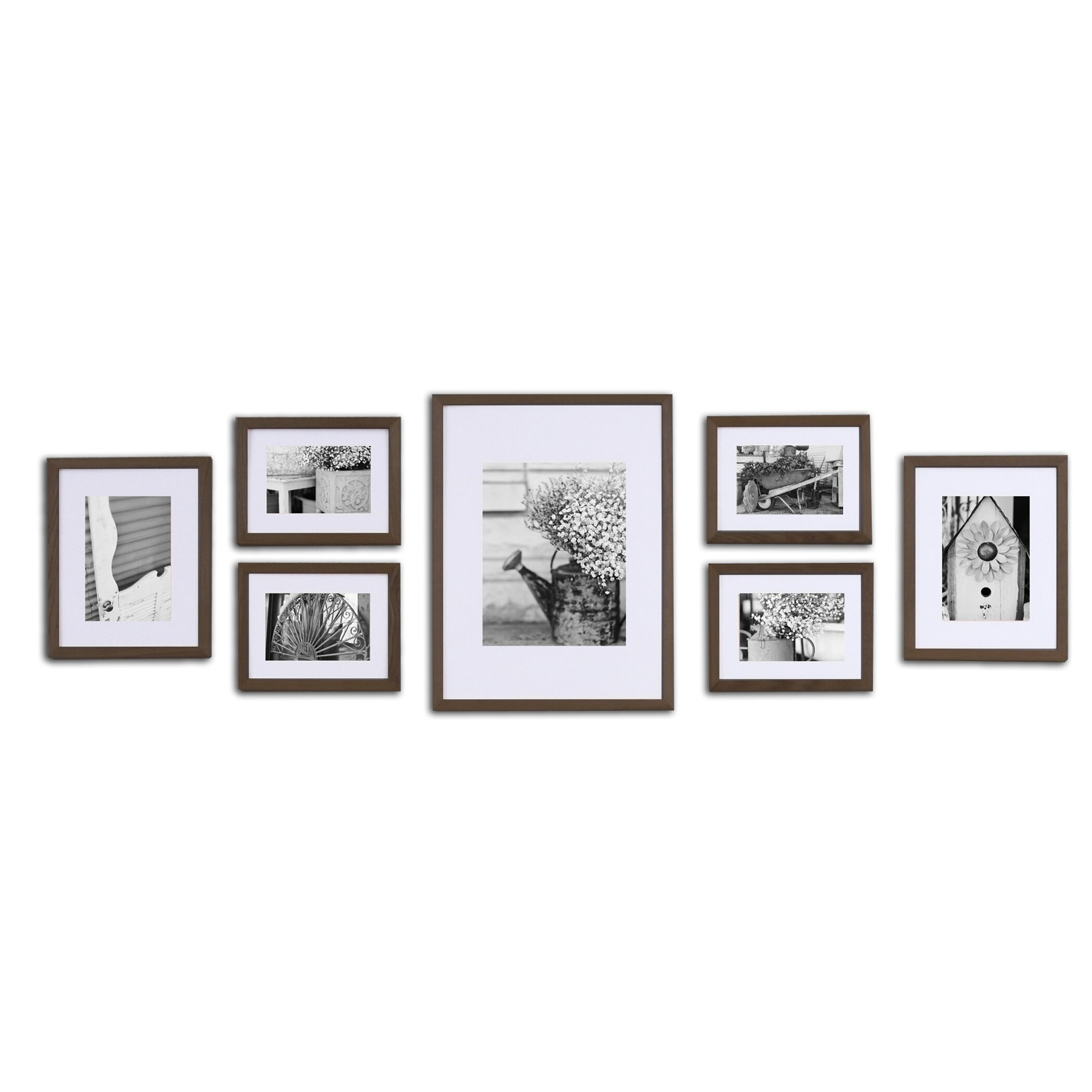Gallery 7 Piece Perfect Wall Picture Frame Set Wayfair