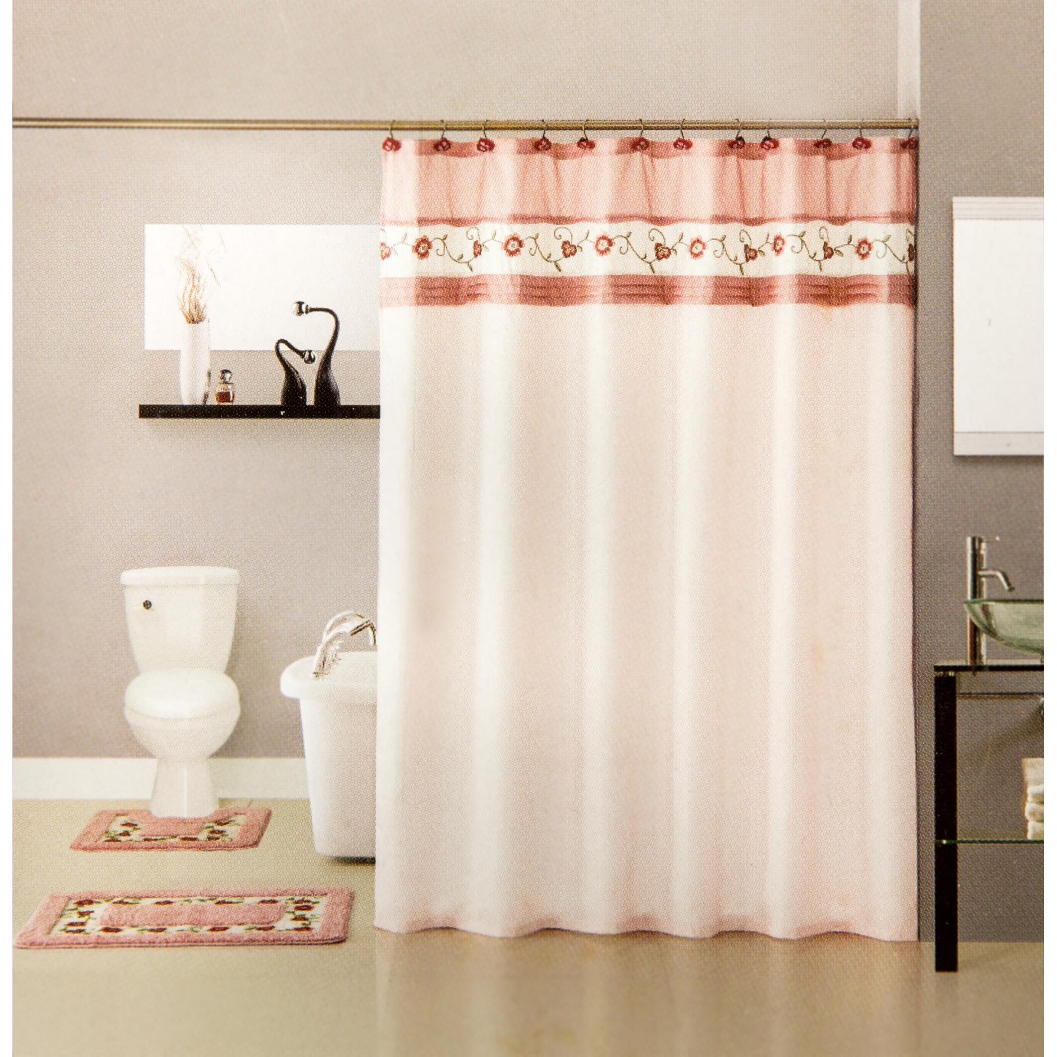 15 piece floral bath mat and shower curtain set wayfair kids shower curtain and bath mat set personalized shower