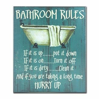 Bathroom Rules Textual Art Plaque Wayfair