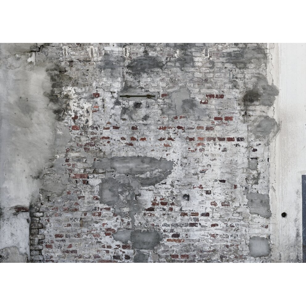 Washingtonwallcoverings factory ii 33 39 x 20 5 stone 3d for Distressed brick wall mural