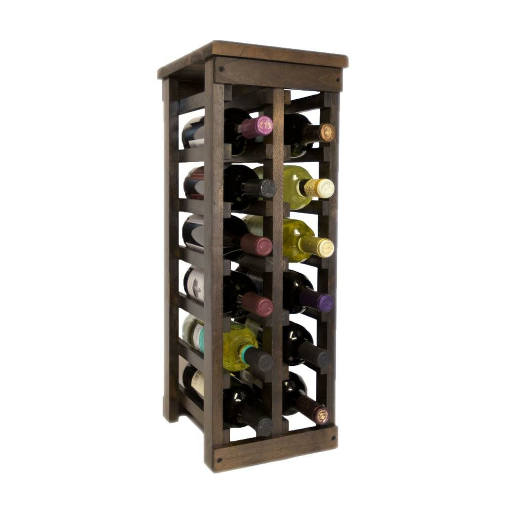 12 bottle floor wine rack wayfair for Floor wine rack