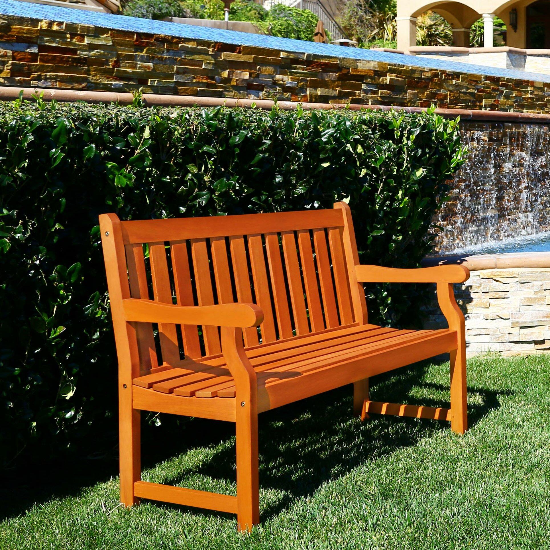 Vifah Marisol Garden Bench & Reviews | Wayfair