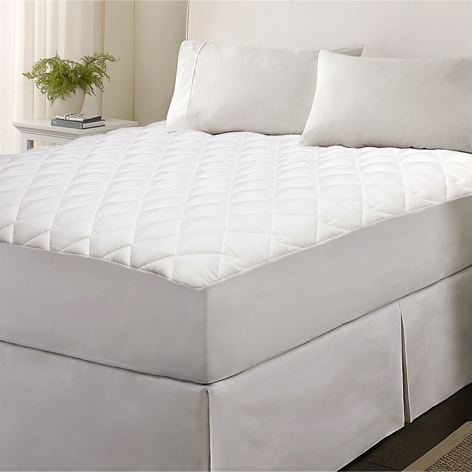 classic micro mattress pad wayfair elle circular knit poly visco mattress pad full