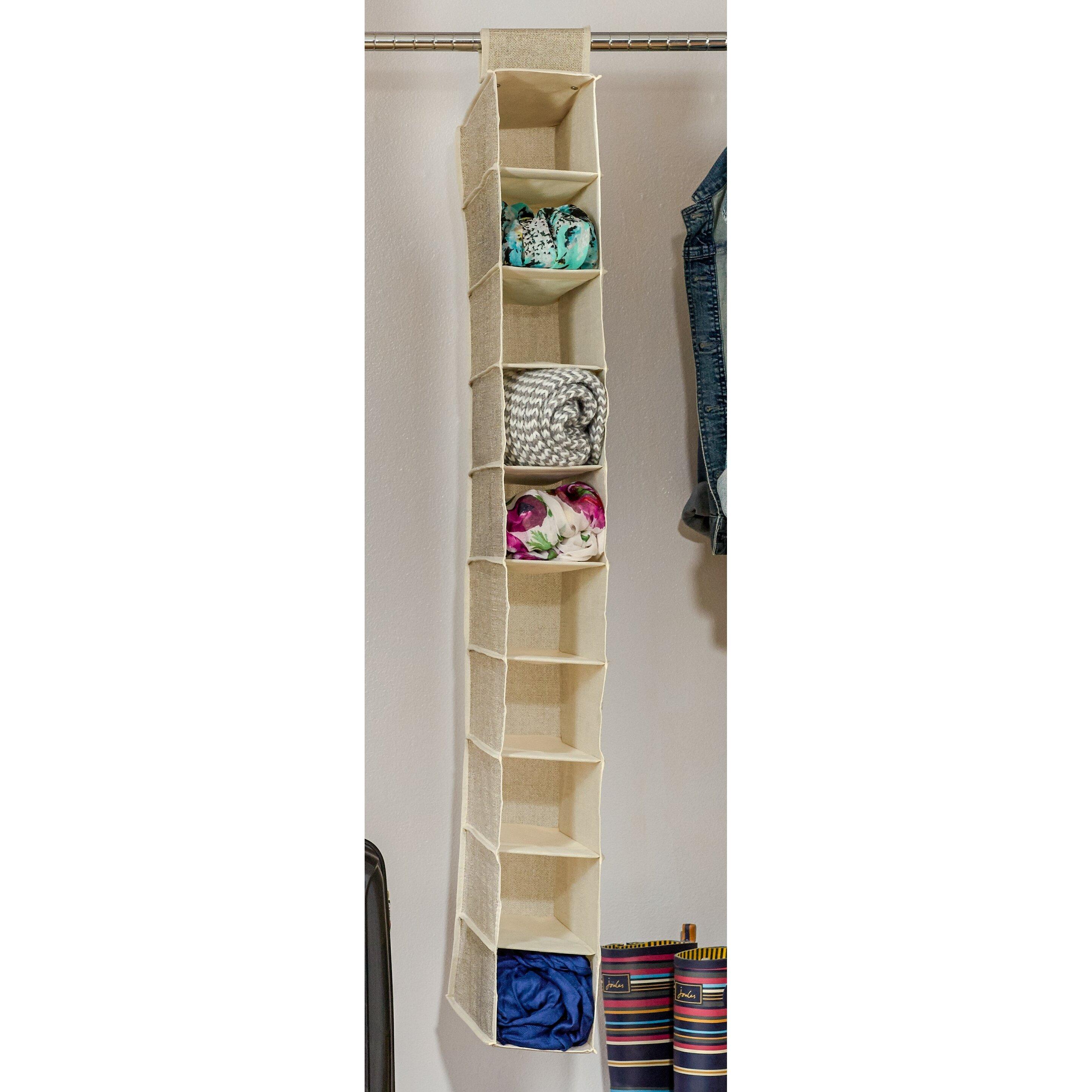 wayfair basics 10 compartment hanging shoe organizer wayfair. Black Bedroom Furniture Sets. Home Design Ideas