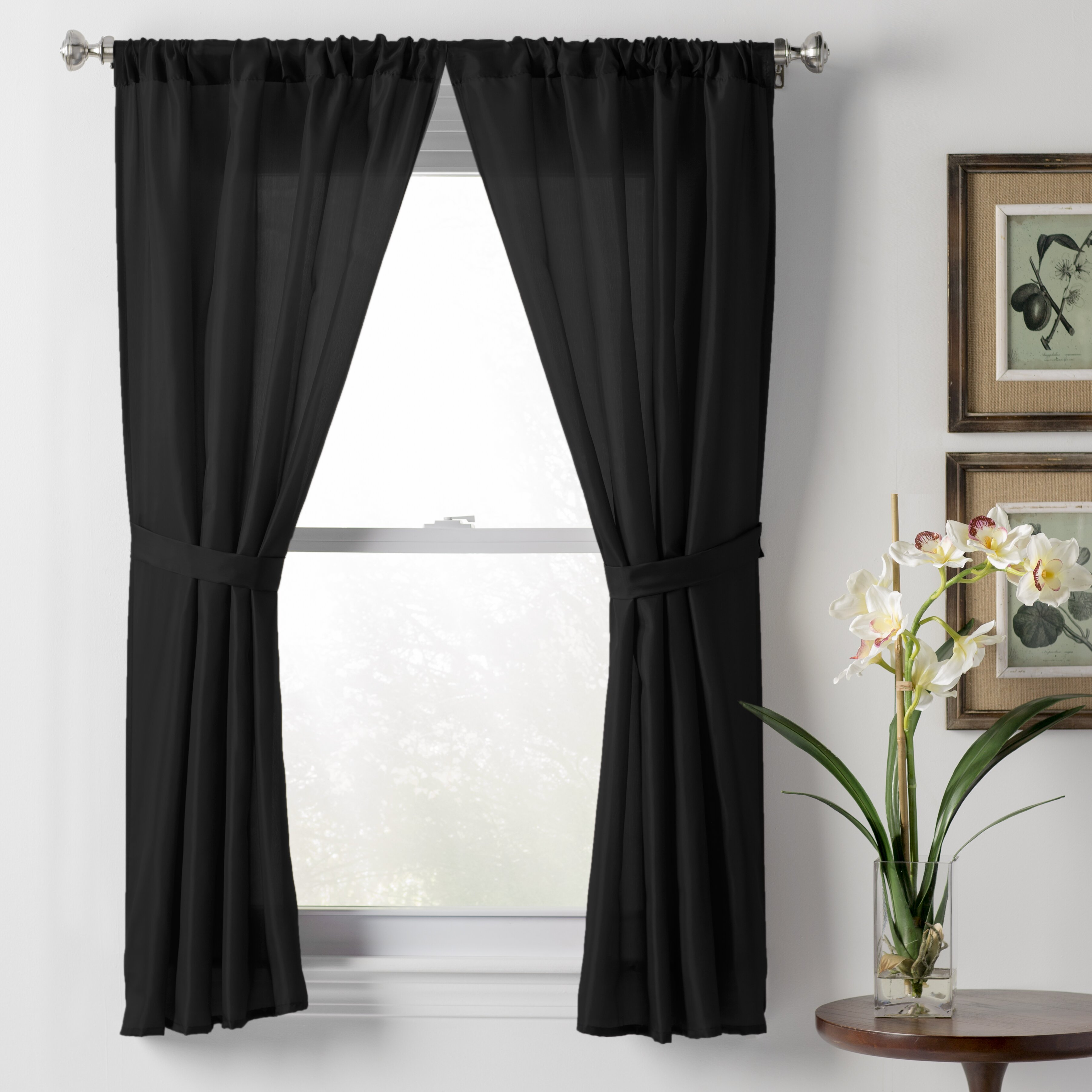 Wayfair Basics Sheer Rod Pocket Curtain Panel Wayfair
