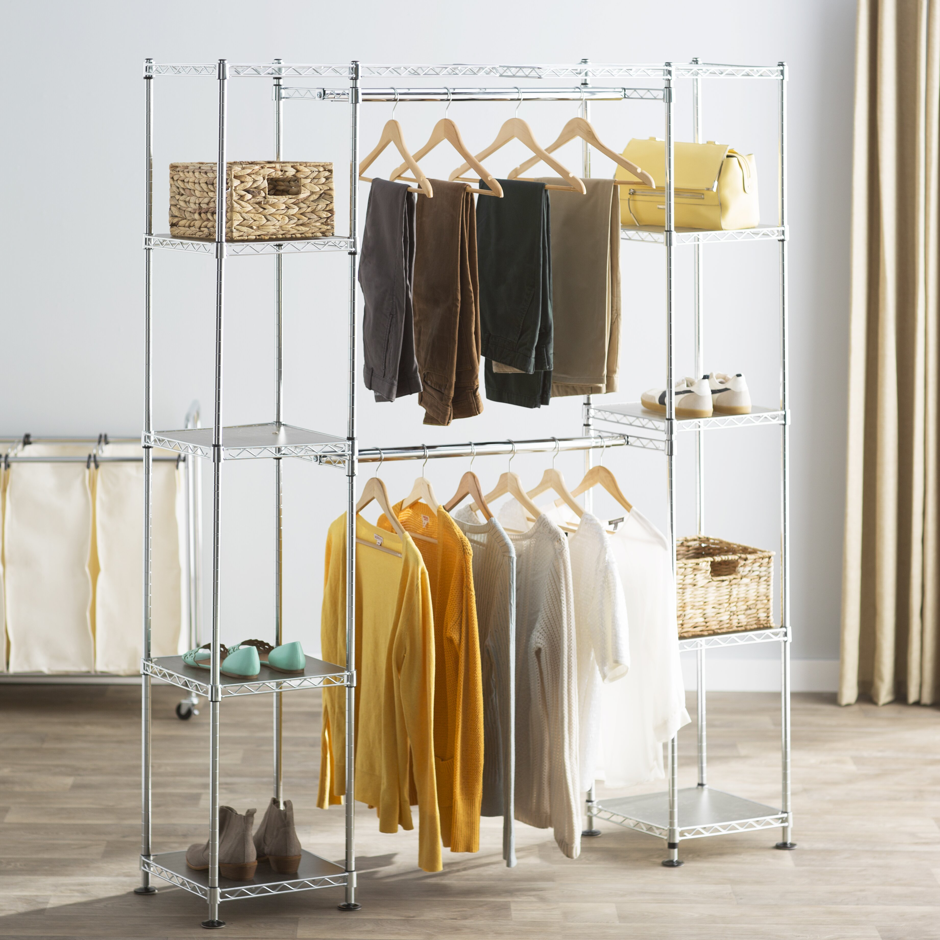 Wayfair Basics Wayfair Basics Wide Closet System amp Reviews  : 14 Deep Heavy Duty Steel Wire Expandable Closet Organizer WFBS1278 from www.wayfair.com size 3683 x 3683 jpeg 1897kB