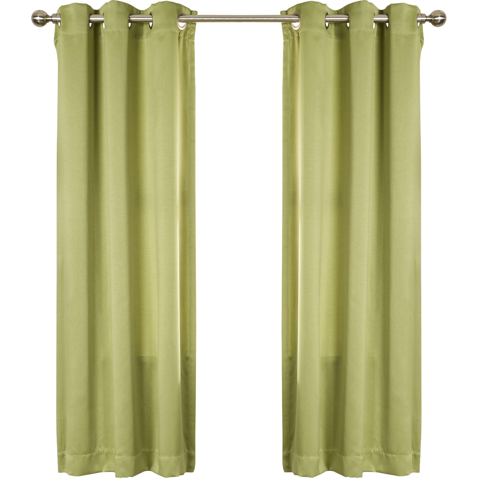 wayfair basics grommet single curtain panel wayfair