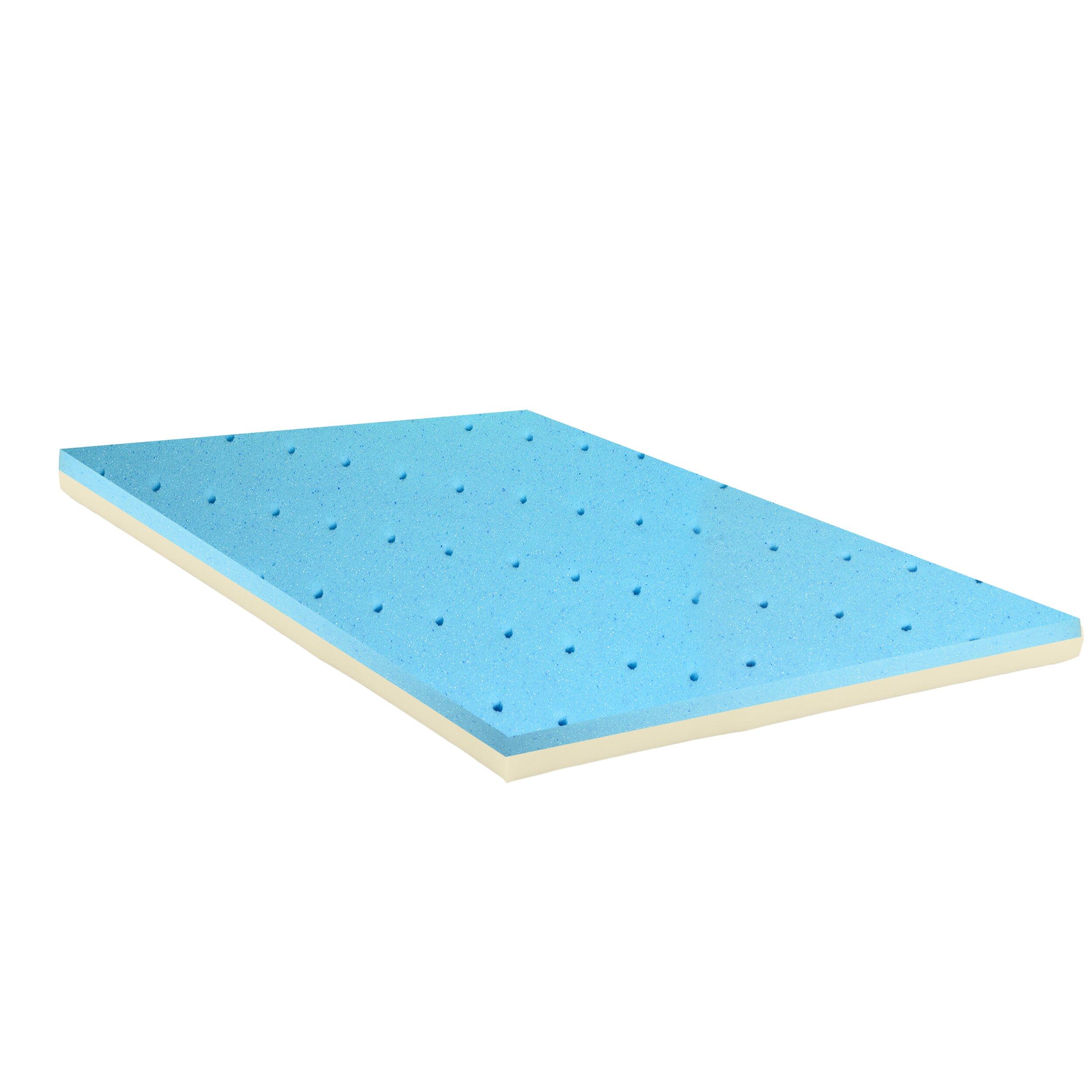 Gel Infused High Density Foam Mattress Topper