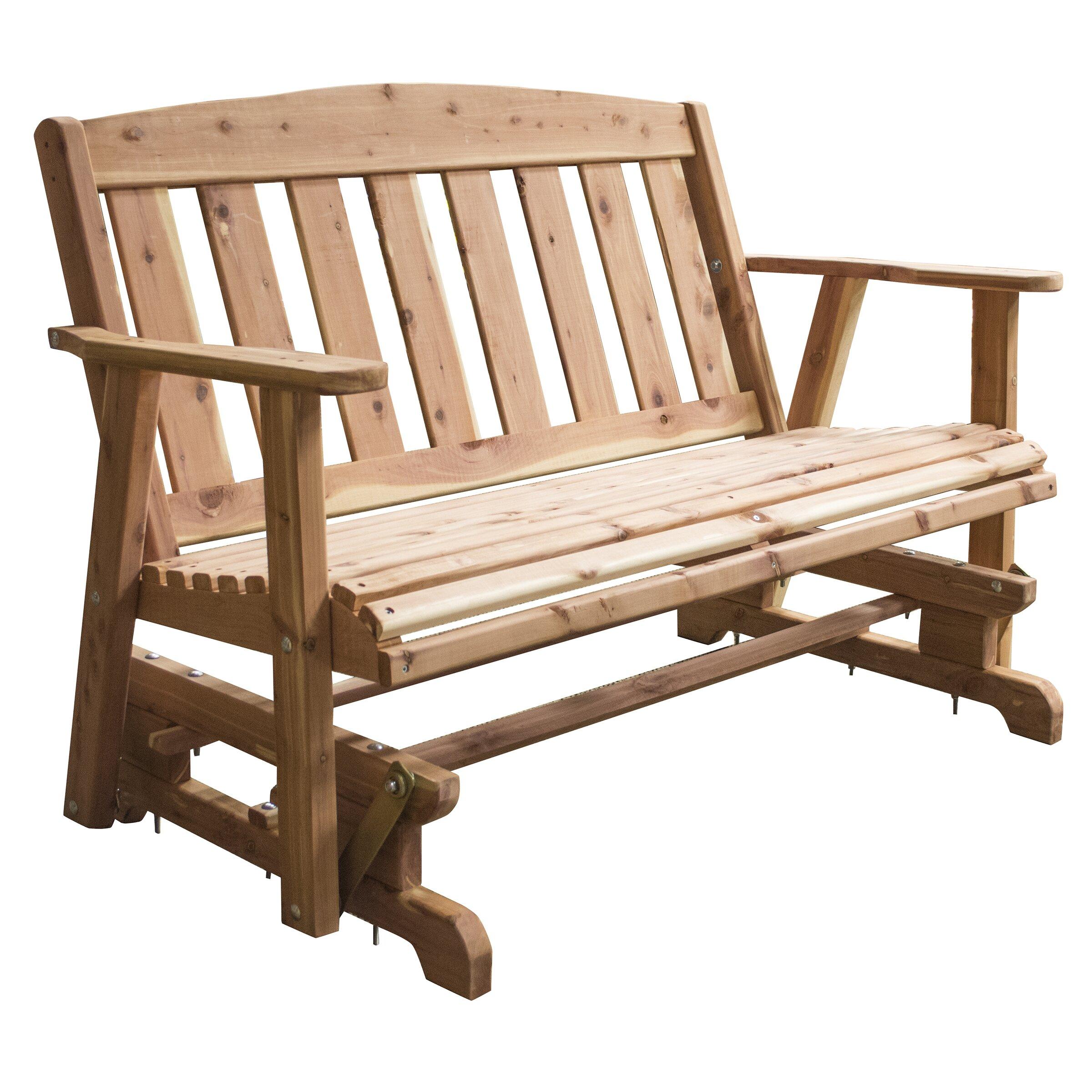 amish glider bench by amerihome