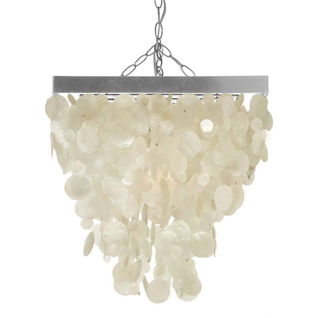 1 light capiz seashell rain drop pendant lamp wayfair