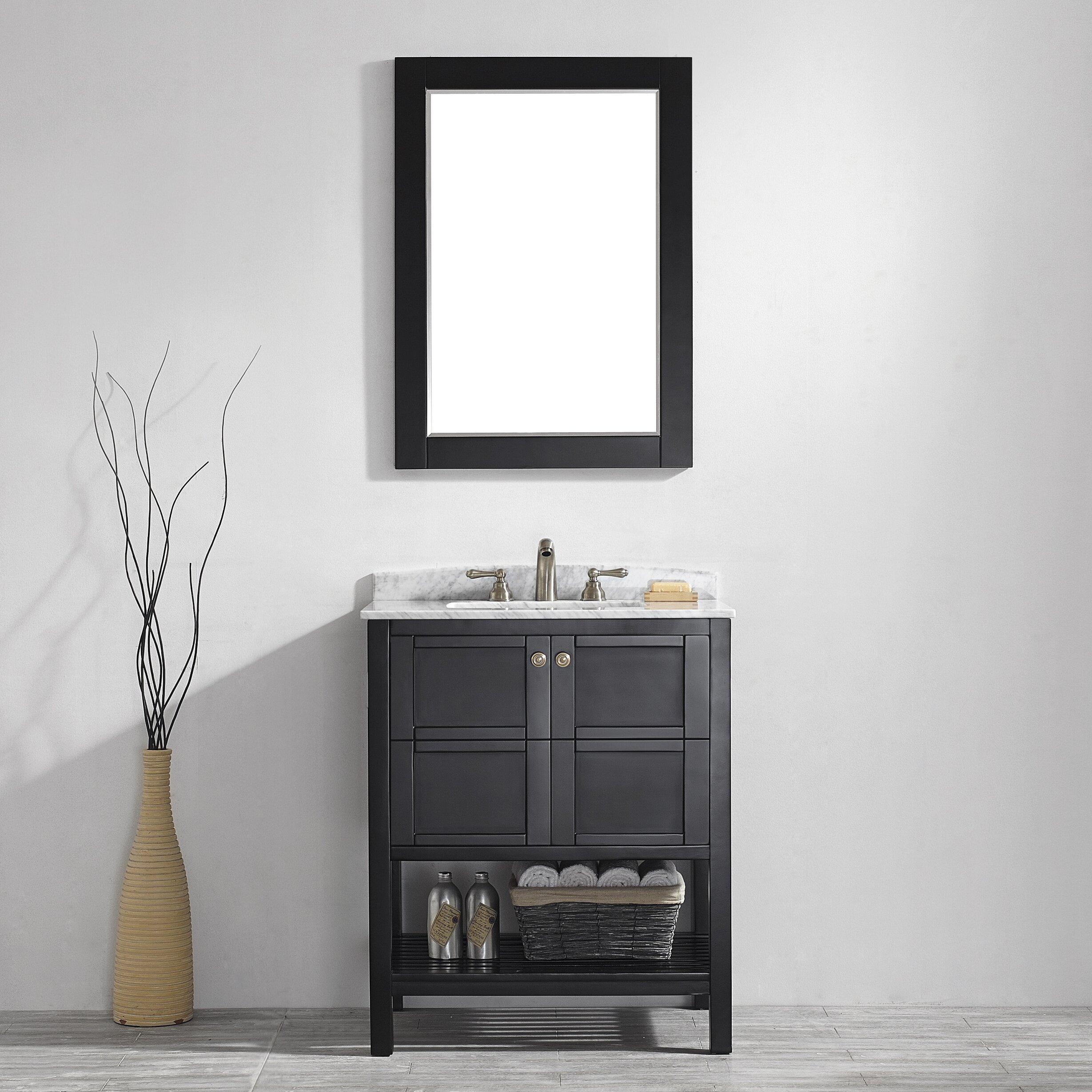 Vinnova Florence 30 Single Vanity Set With Mirror Reviews Wayfair