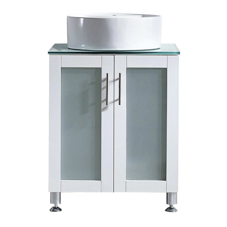 Tuscany 24 single vanity set wayfair for Tuscan bathroom vanity cabinets