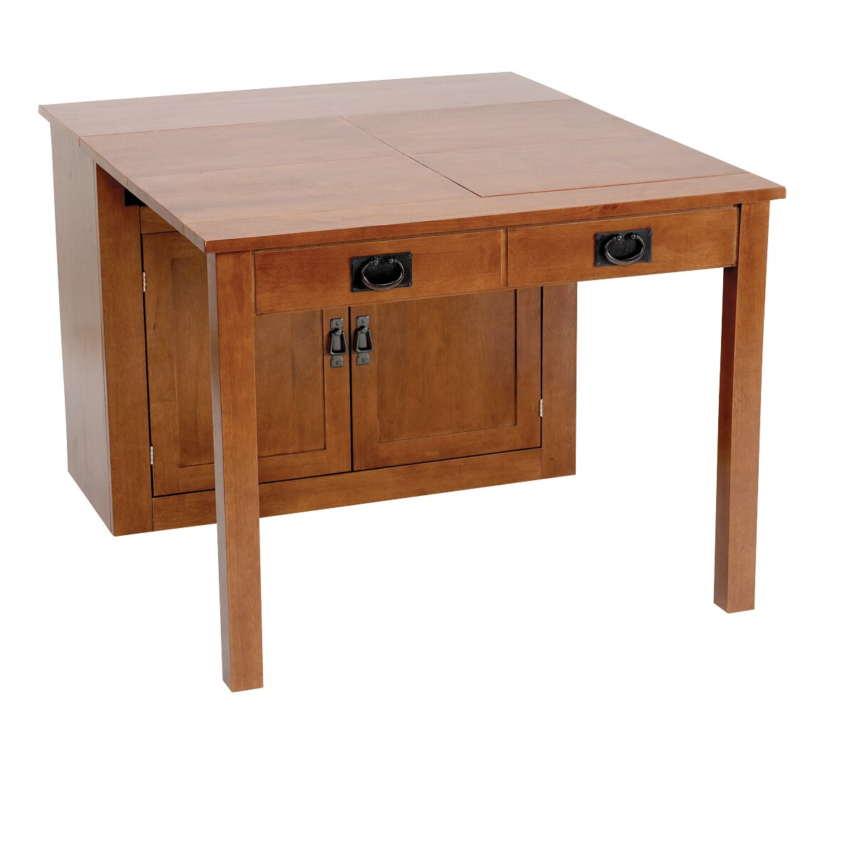 Mission Expanding Cabinet Dining Table