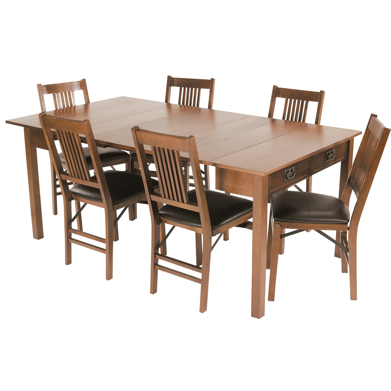 stakmore mission style expanding dining table reviews wayfair