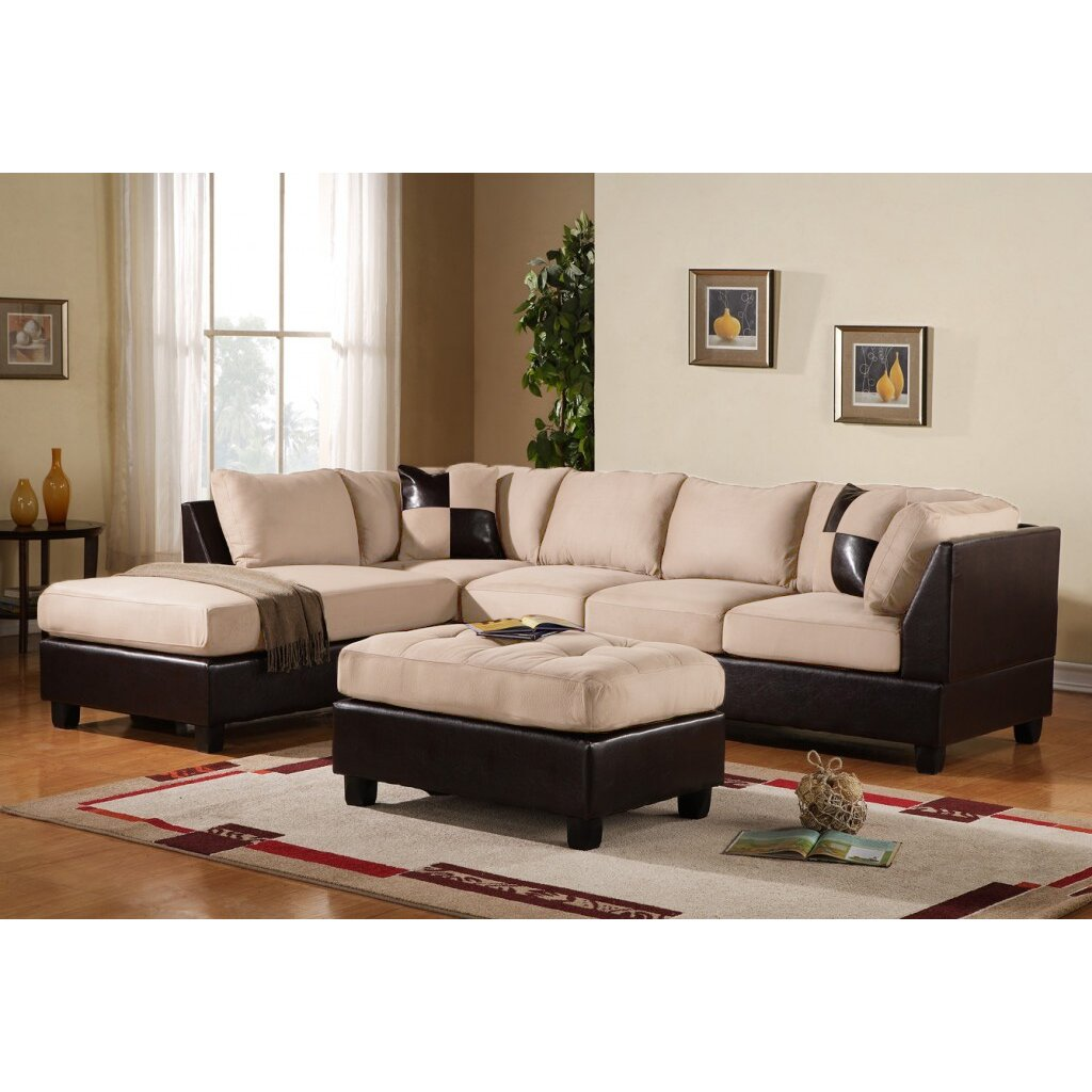 White Leather Sofas Montreal: Madison Home USA Reversible Chaise Sectional & Reviews