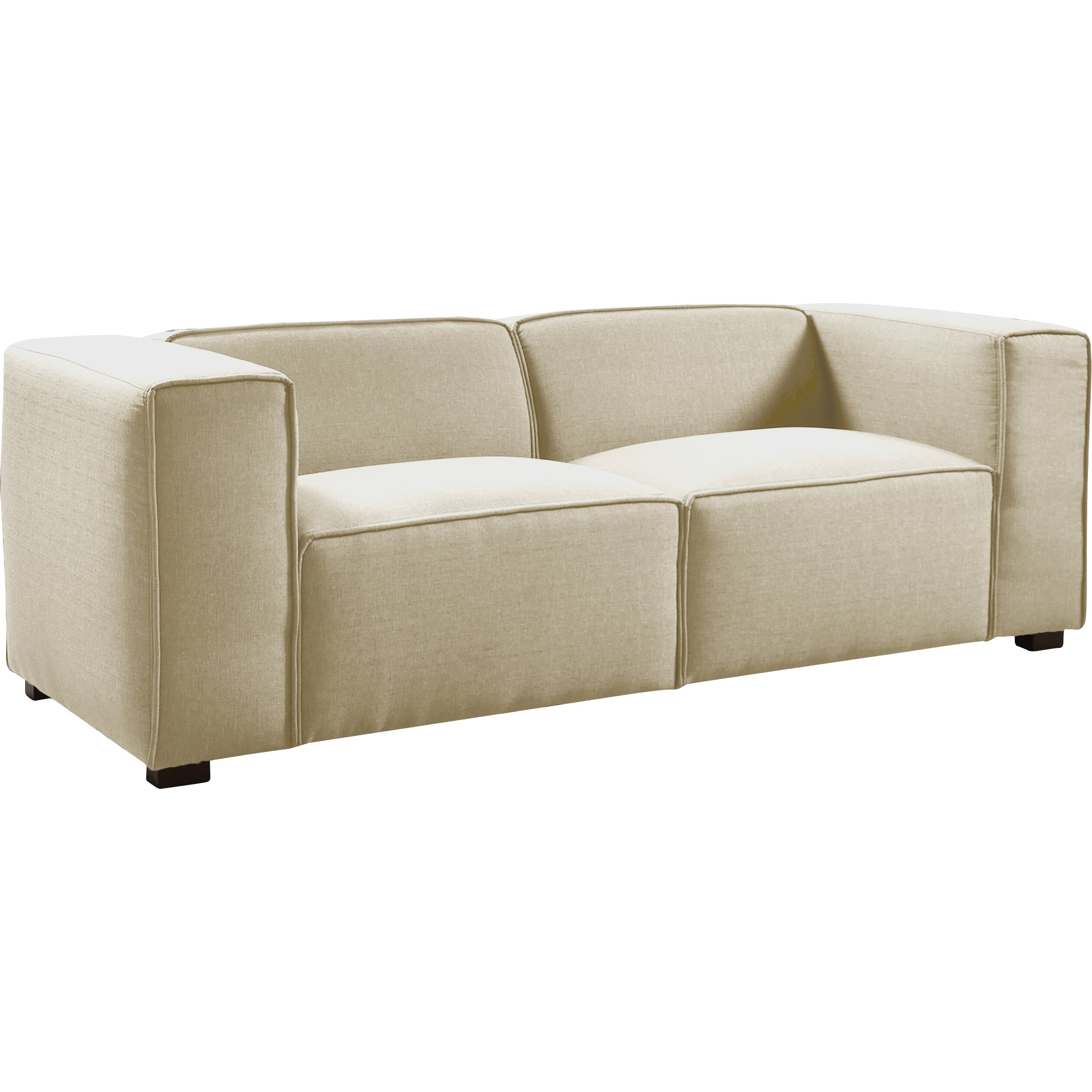 Modern Contemporary Designed Overstuffed Linen Fabric Sofa EXP MHUS