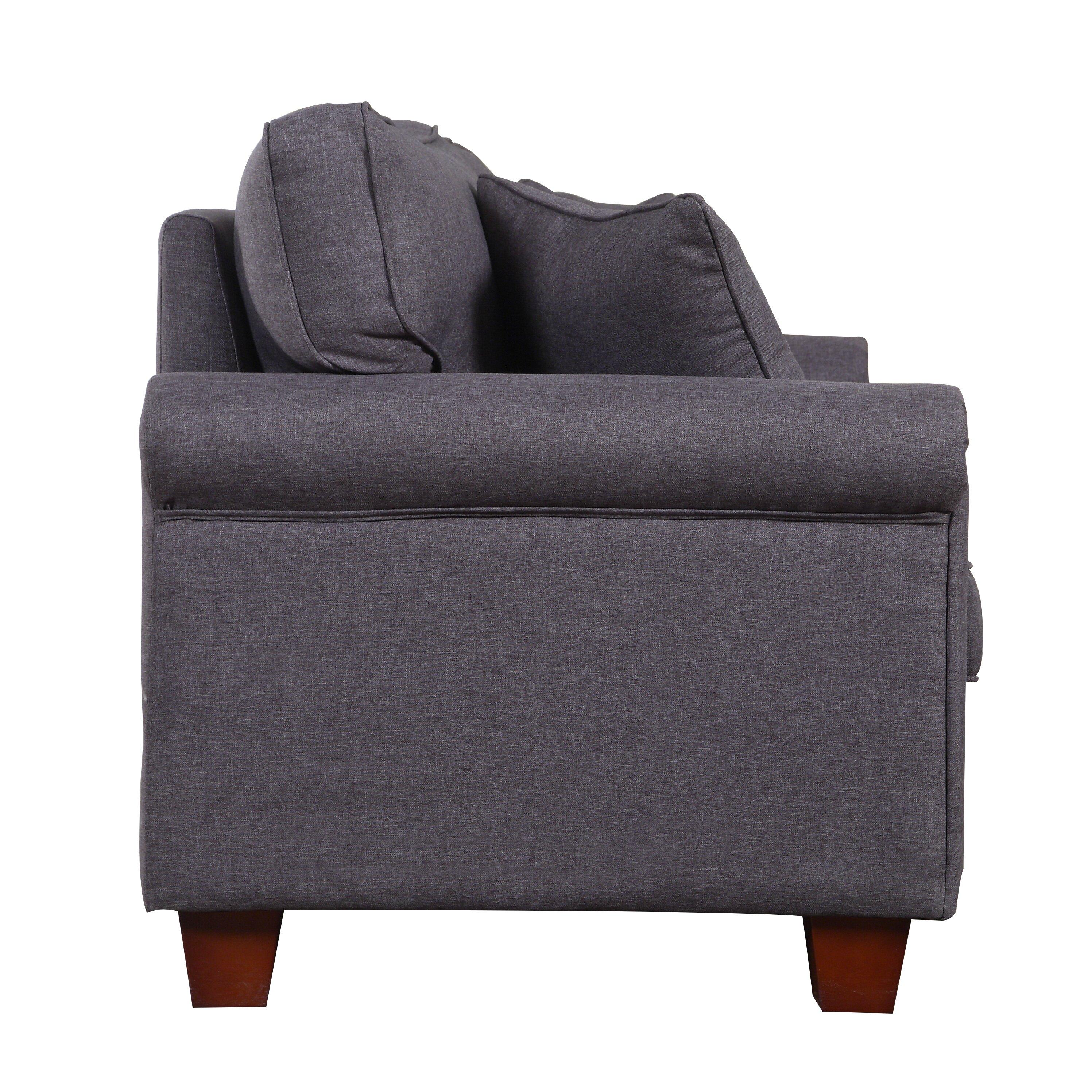 Madrid Taupe Beige Ultra Modern Living Room Furniture 3: Classic Living Room Linen Fabric Sofa