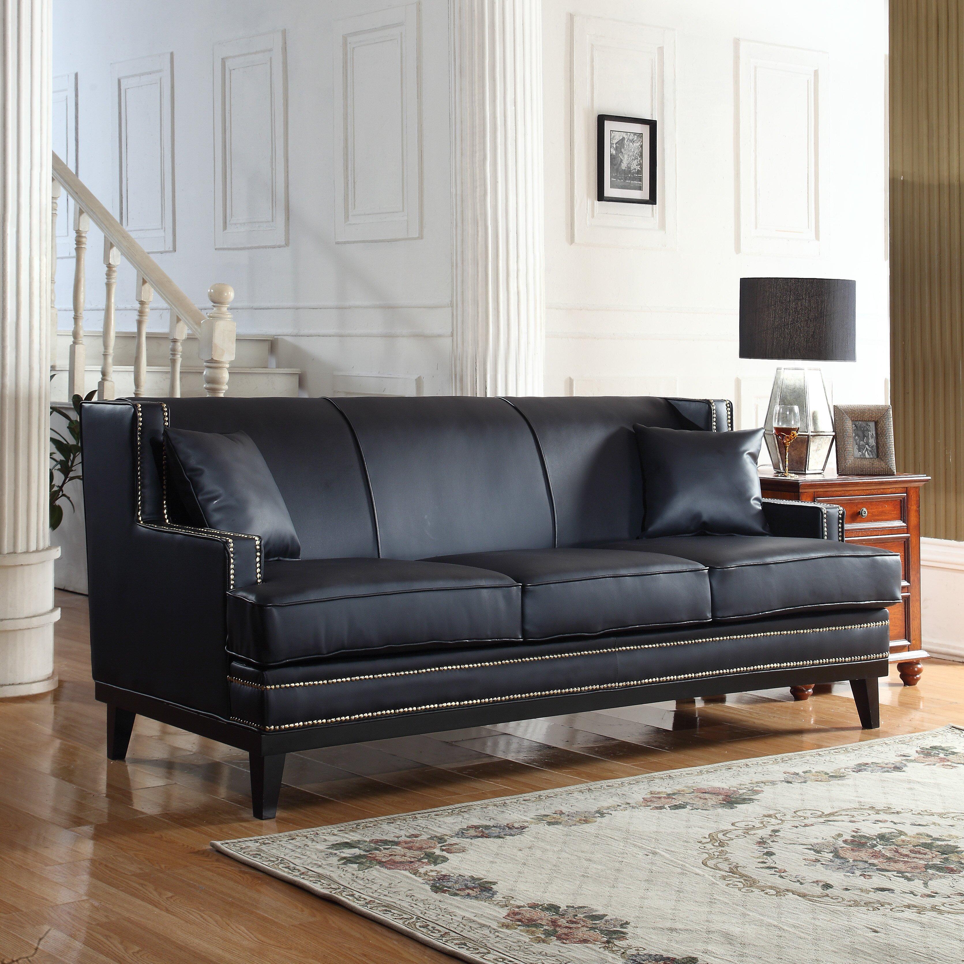 Modern Nailhead Sofa: Madison Home USA Sofa