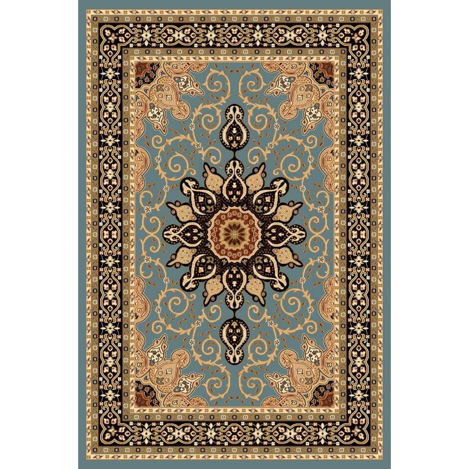 Persian-rugs Tobis Oriental Isfahan Blue Area Rug & Reviews | Wayfair