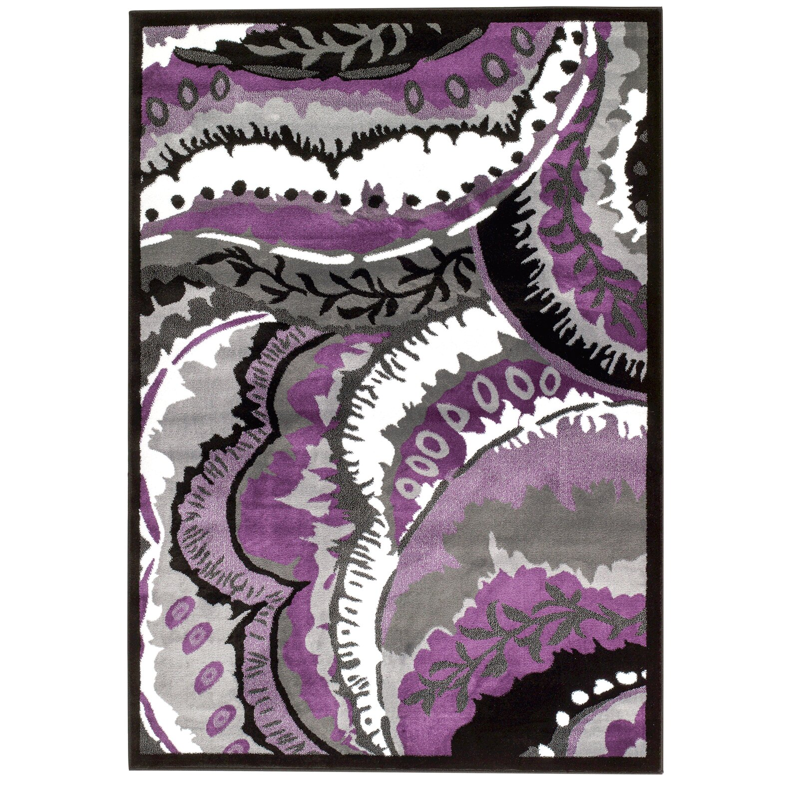 Purple Rug: Persian-rugs Modern Purple Area Rug & Reviews
