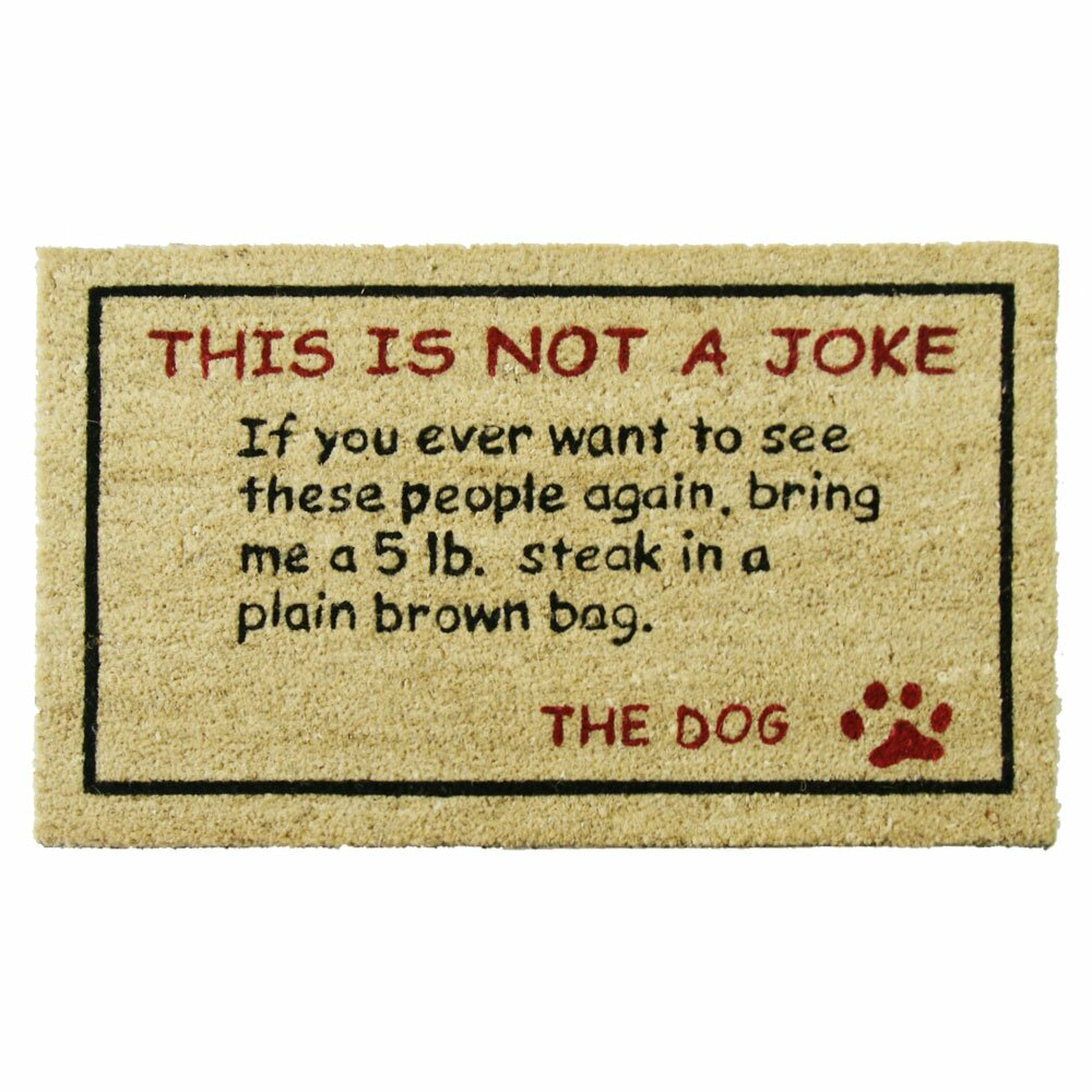 Steak! Dog Humorous Welcome Doormat