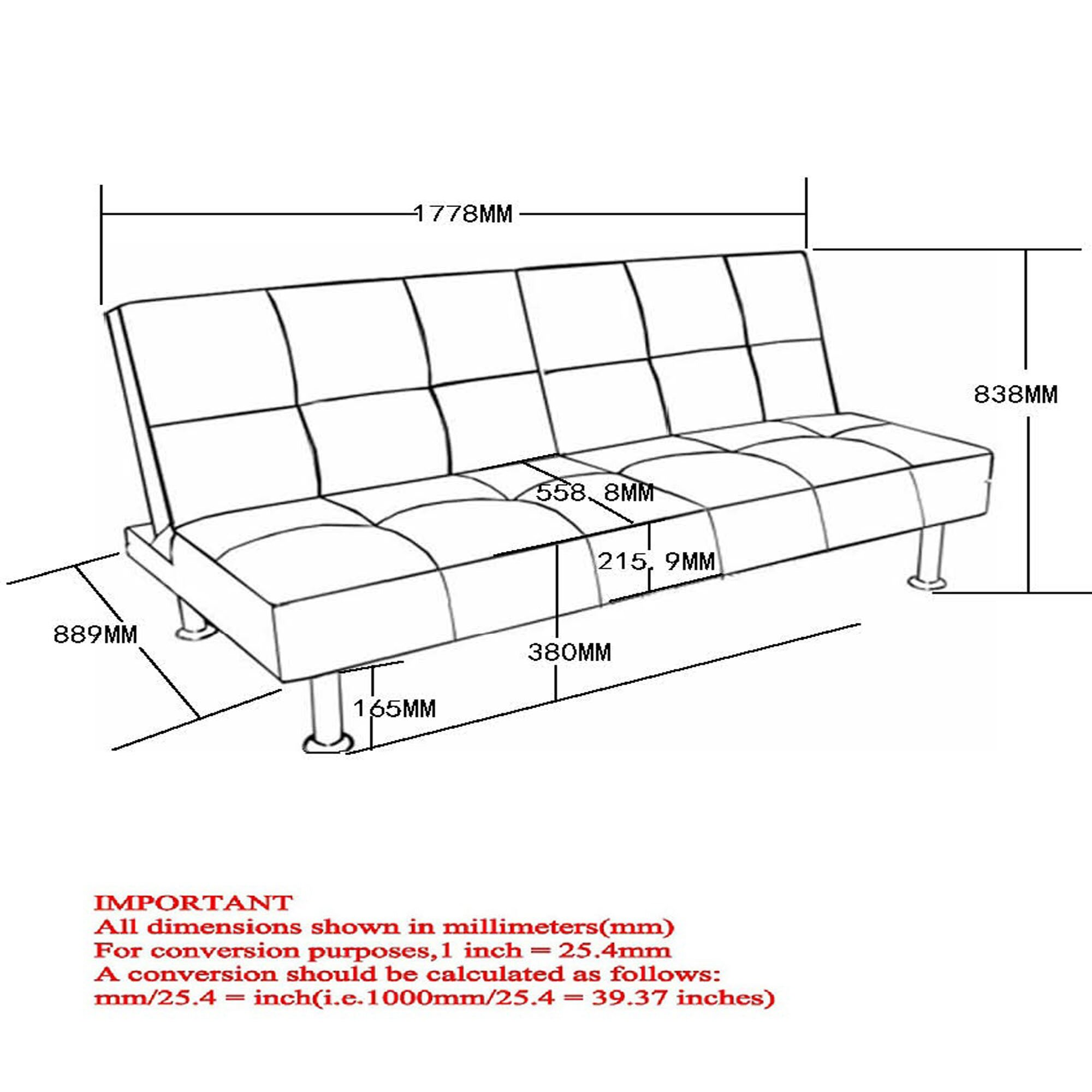 worldwide homefurnishings klik klak convertible sofa